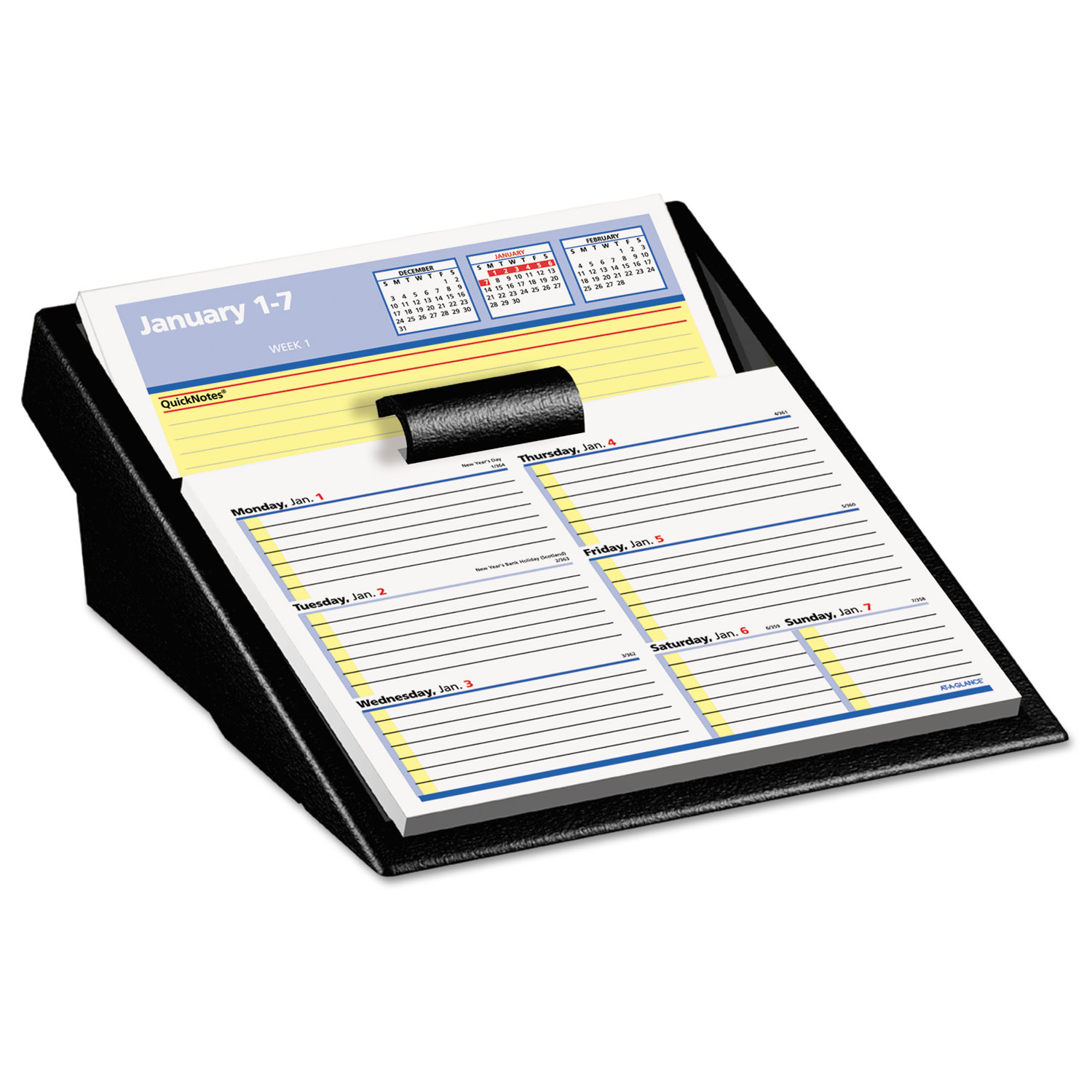 Calendar Refill : Flip a week desk calendar refill with quicknotes by at