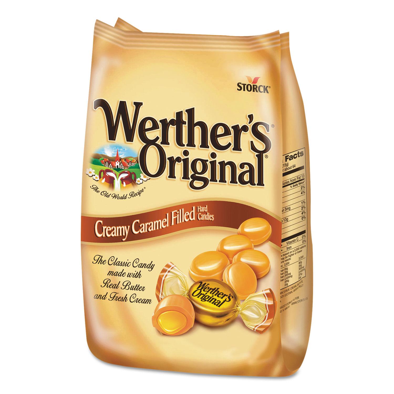 Hard Candies, Caramel with Caramel Filling, 30 oz Bag