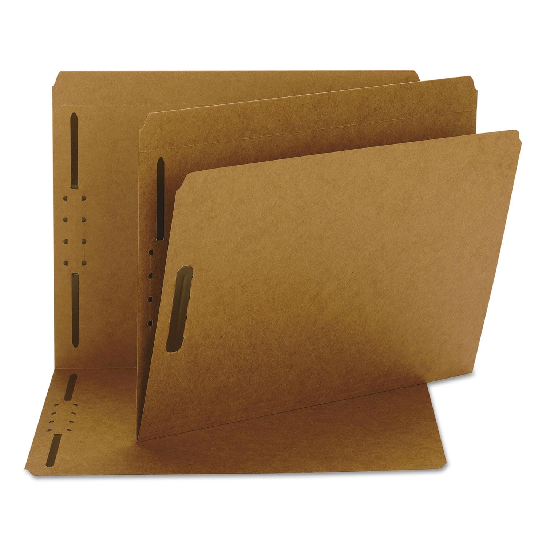 Kraft 2-Fastener Folders, Straight Tab, Letter Size, Kraft, 50/Box