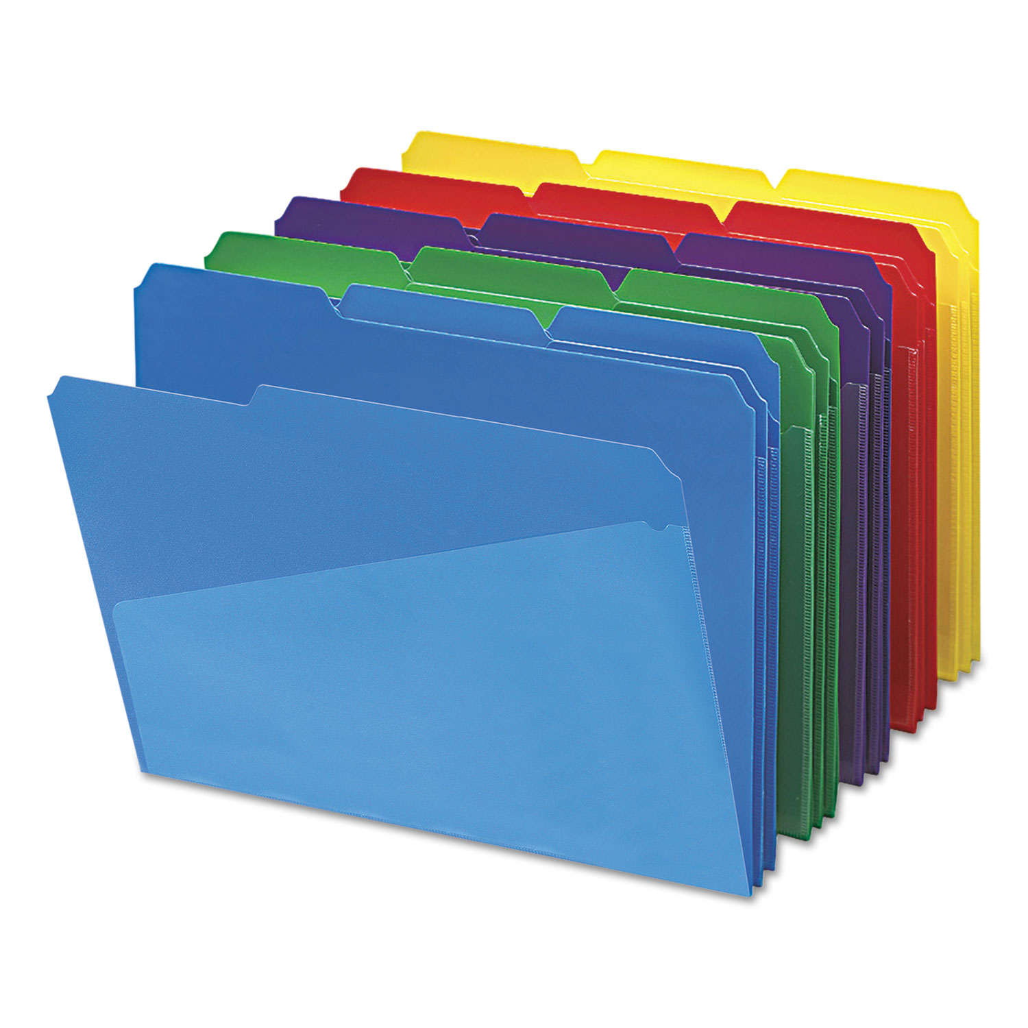 Slash Pocket Poly File Folders by Smead SMD10540 OnTimeSuppliescom