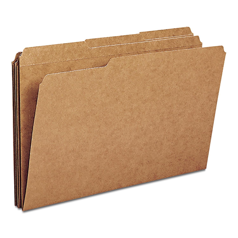 Smead 11 Point Kraft Folders Two Fasteners 1//3 Cut Top Tab Letter Brown 50//box