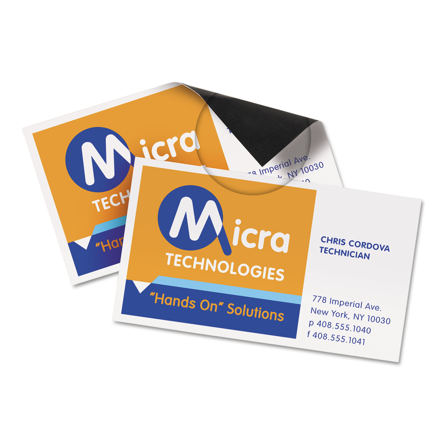Magnetic business cards by averyr ave8374 ontimesuppliescom for Avery magnetic business cards