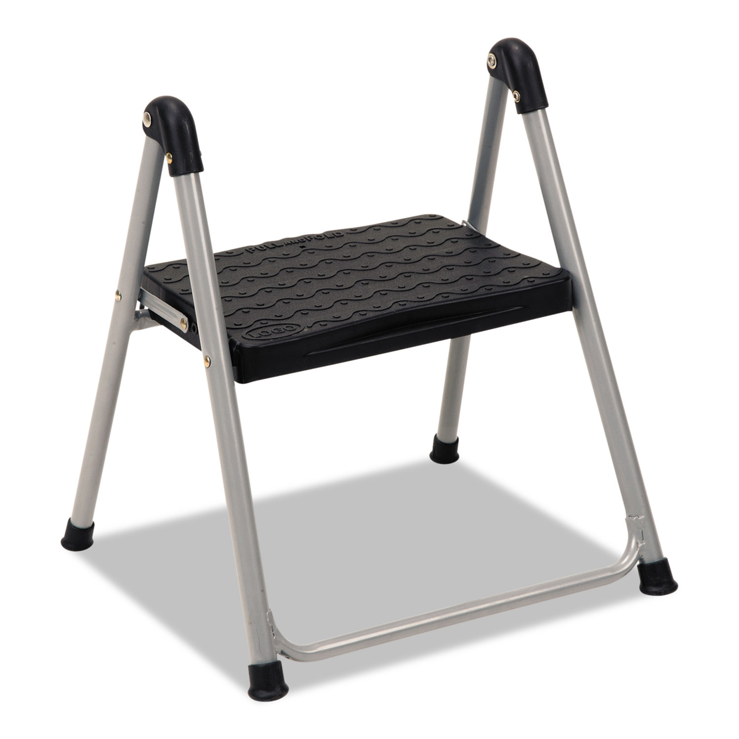 Magnificent Folding Step Stool 1 Step 200 Lb Capacity 9 9 Working Height Platinum Black Creativecarmelina Interior Chair Design Creativecarmelinacom