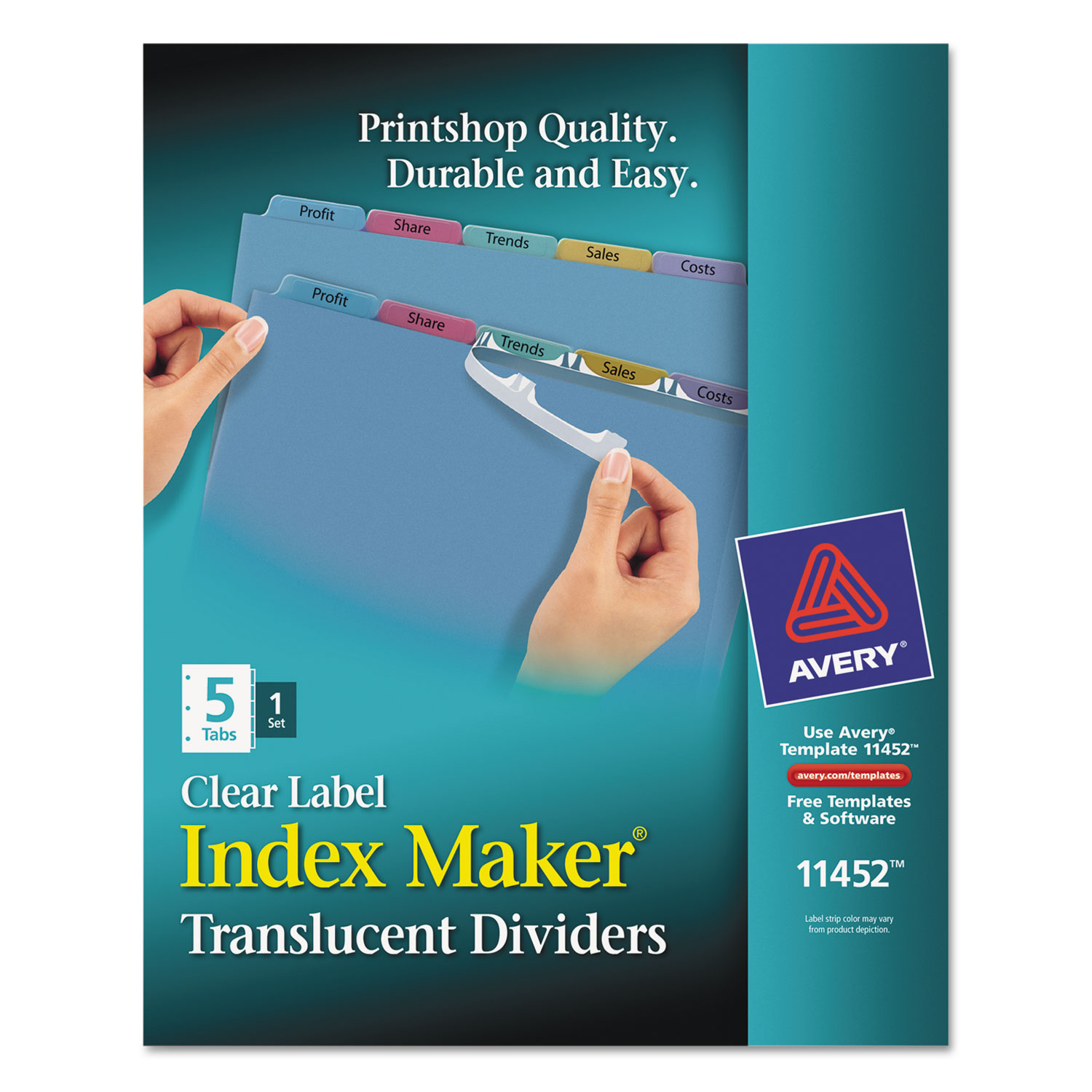 Index Maker Print Apply Clear Label Plastic Dividers By Avery