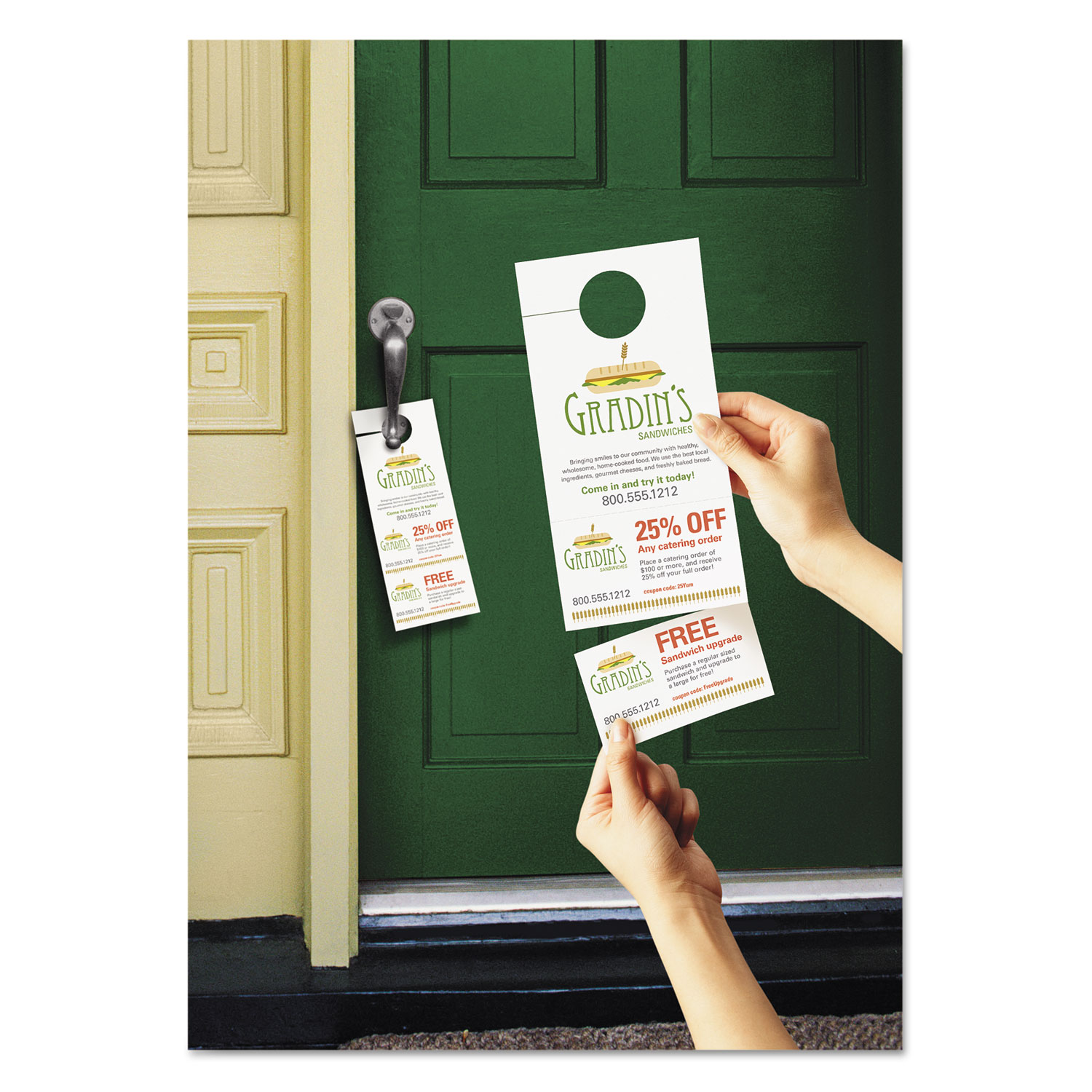 blank print pin template and your cutout design hanger door for
