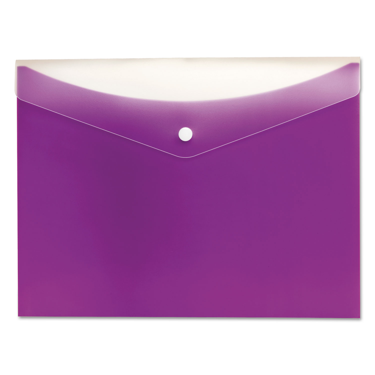 Poly Snap Envelope, Snap Closure, 8.5 x 11, Grape