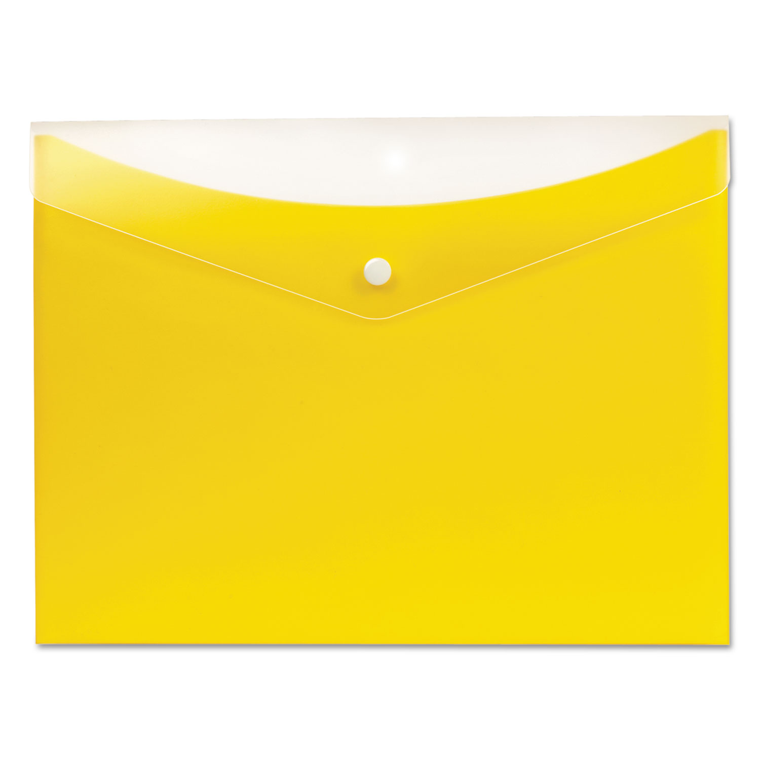 Poly Snap Envelope, Snap Closure, 8.5 x 11, Lemon