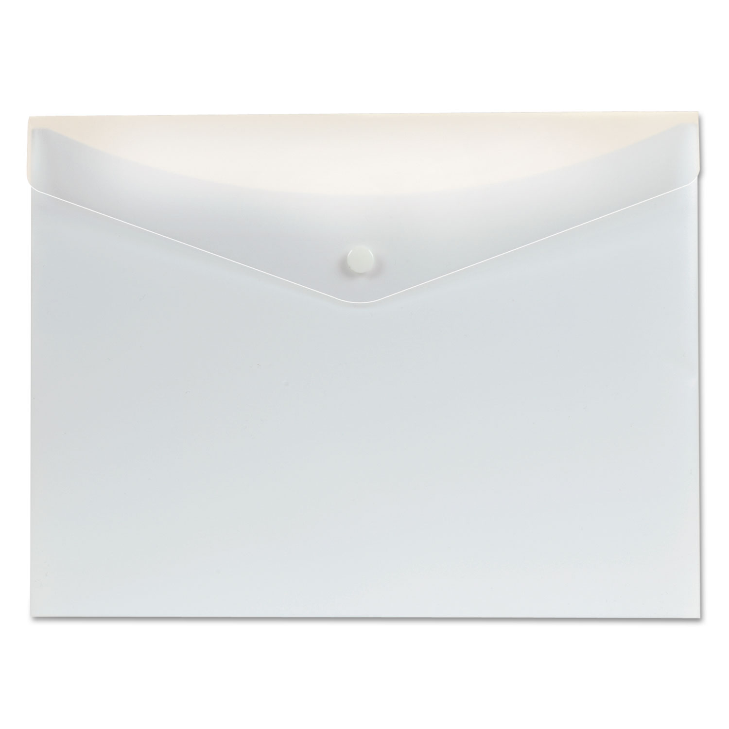 Poly Snap Envelope, Snap Closure, 8.5 x 11, White