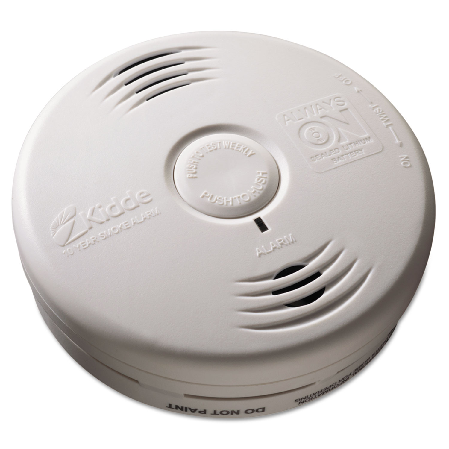 Bedroom Smoke Alarm w/Voice Alarm, Lithium Battery, 5.22Dia x 1.6Depth