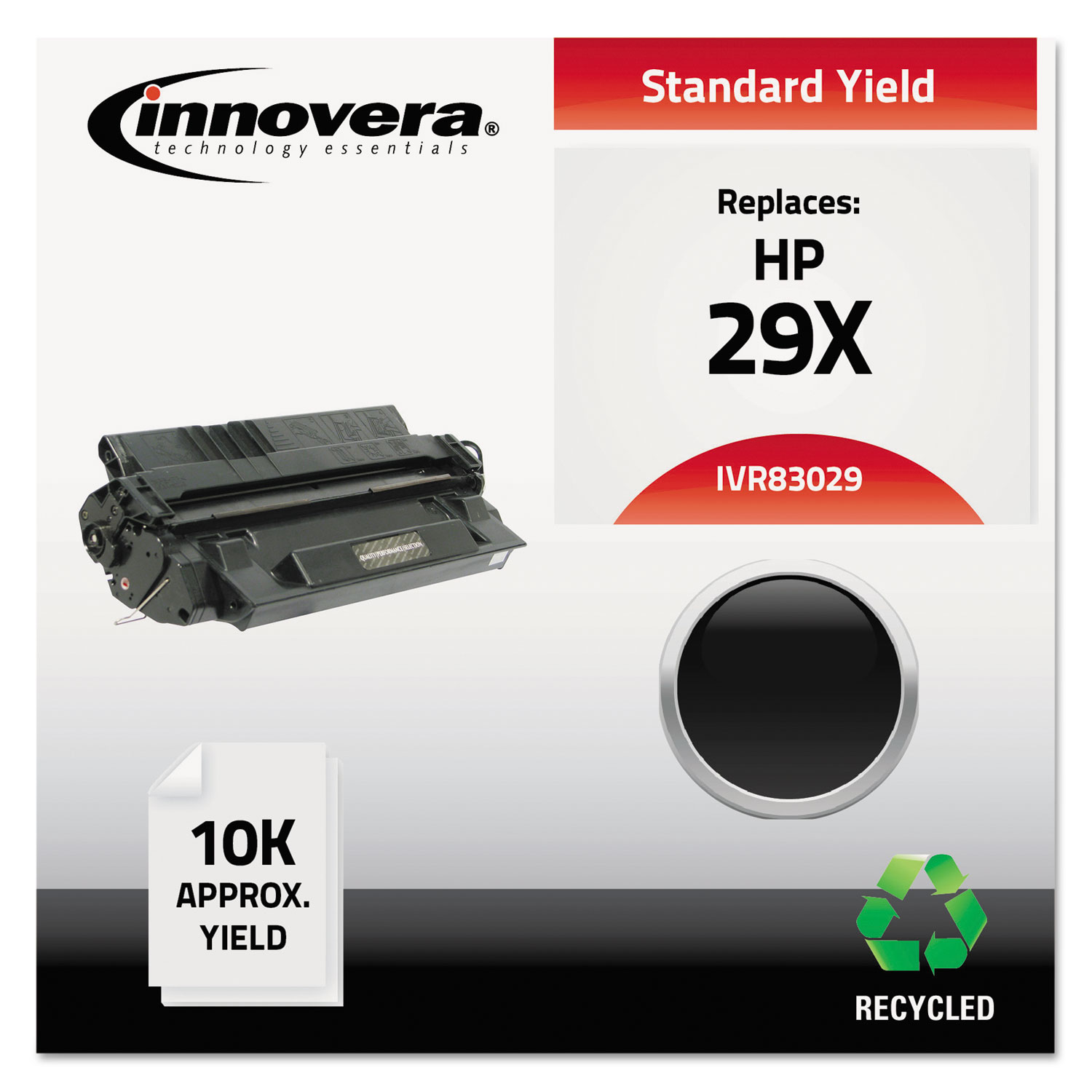 Remanufactured C4129X (29X) High-Yield Toner, 10000 Page-Yield, Black