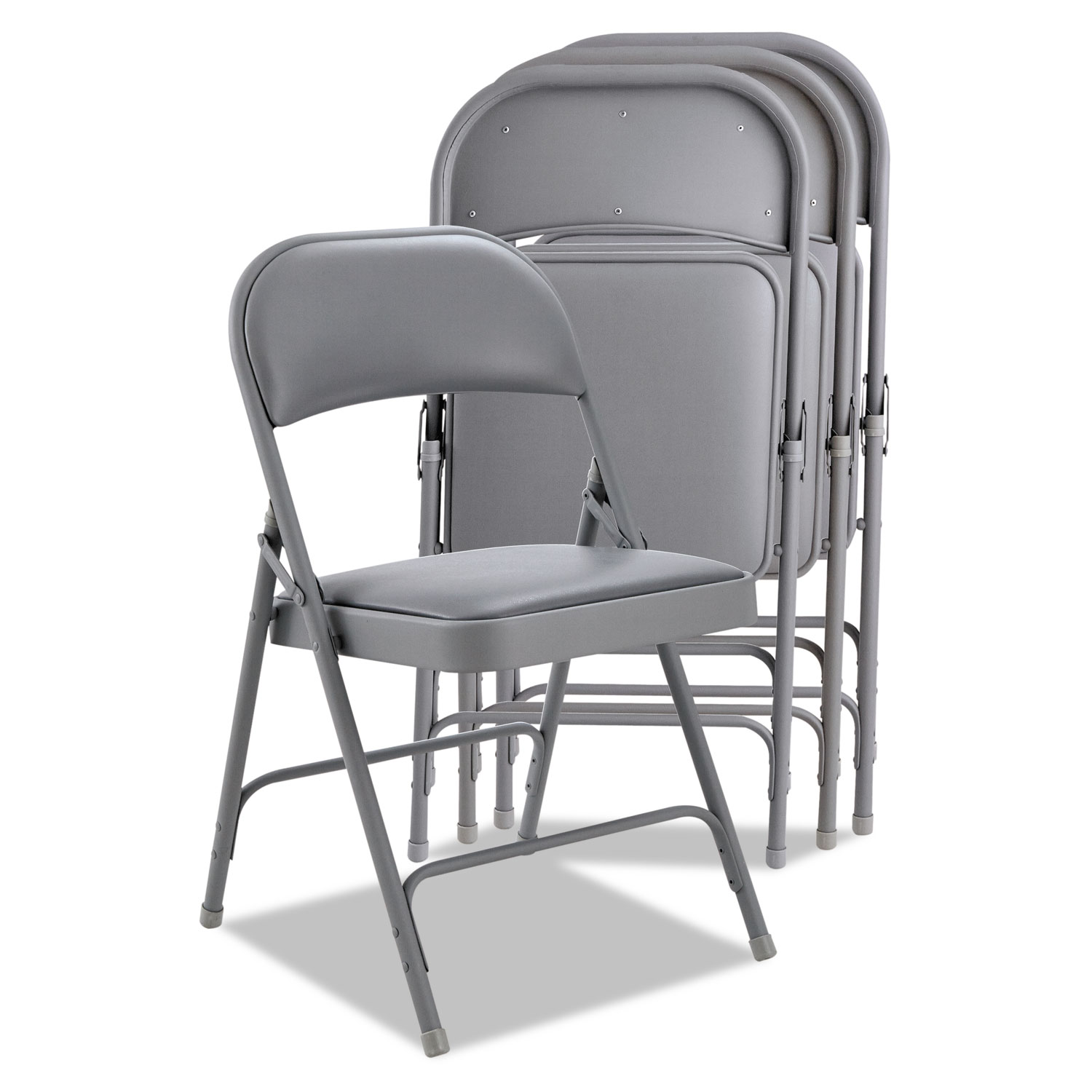 Fantastic Steel Folding Chair With Two Brace Support Light Gray Seat Light Gray Back Light Gray Base 4 Carton Theyellowbook Wood Chair Design Ideas Theyellowbookinfo