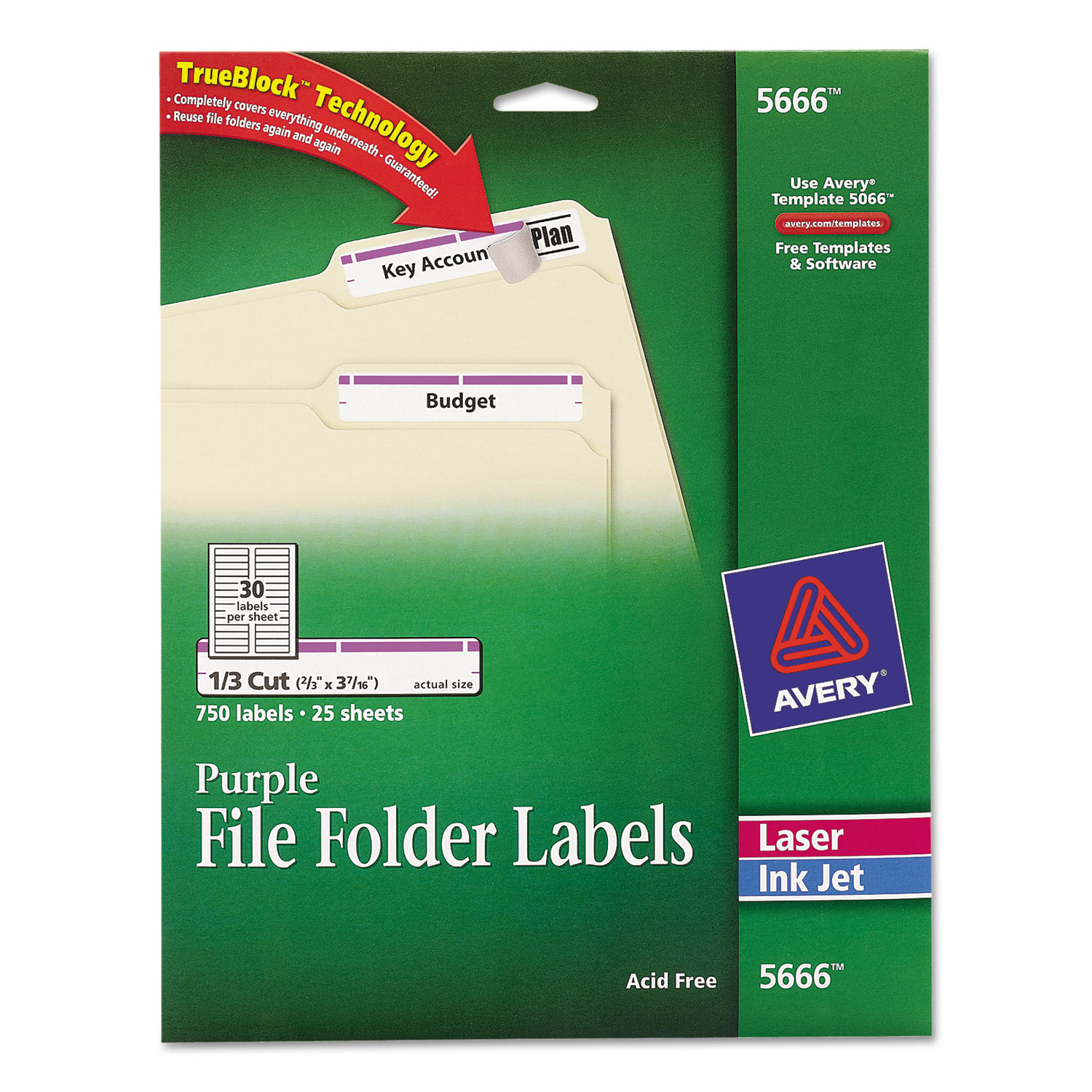 Permanent File Folder Labels By Avery Ave5666 Ontimesupplies