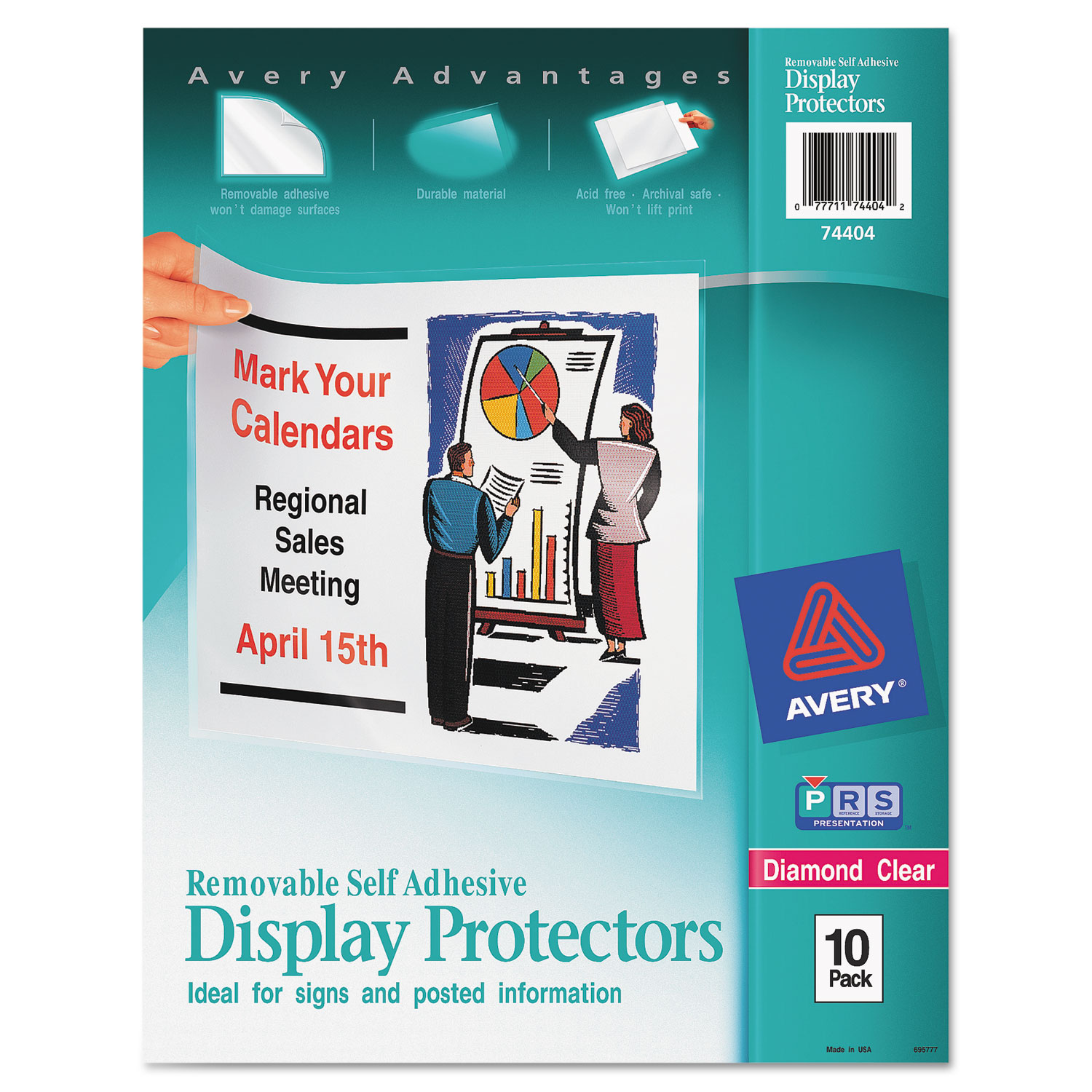 top load display sheet protectors by avery ave74404