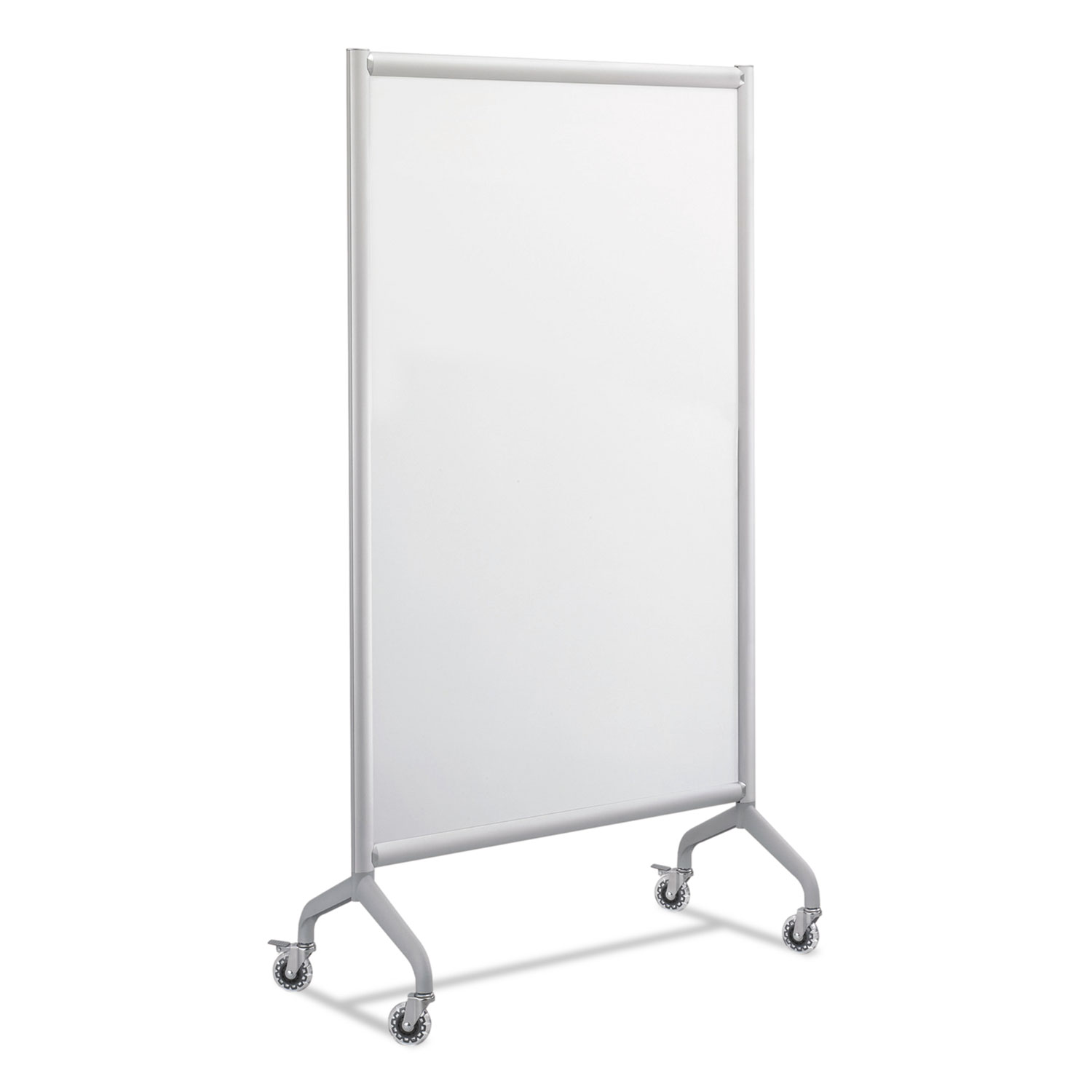 Rumba Full Panel Whiteboard Collaboration Screen, 36 x 66, White/Gray