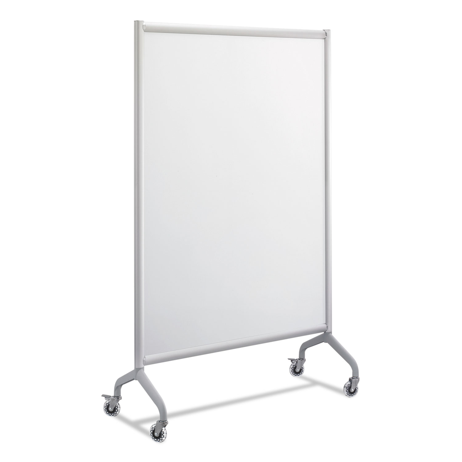 Rumba Full Panel Whiteboard Collaboration Screen, 42 x 66, White/Gray