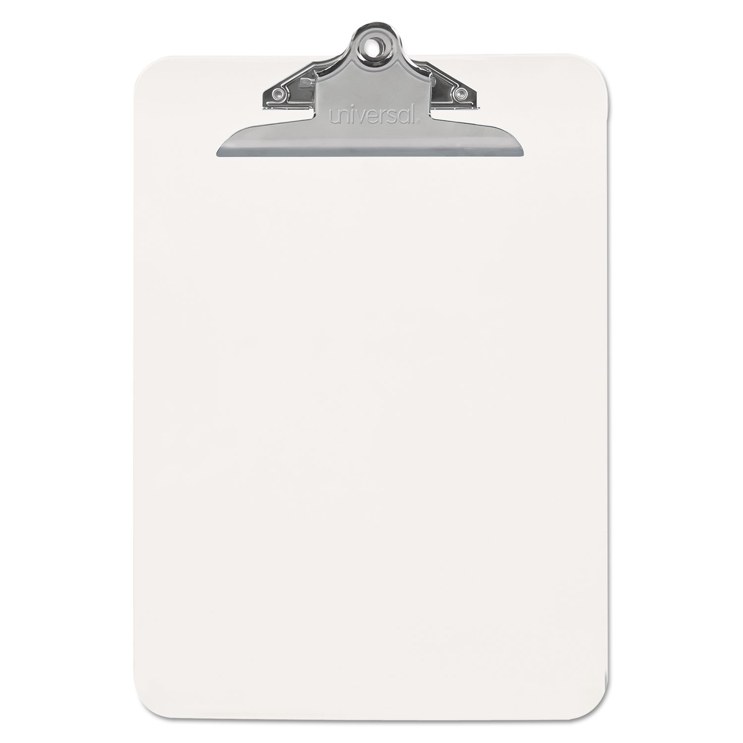"""Plastic Clipboard with High Capacity Clip, 1"""" Capacity, Holds 8 1/2 x 11, Clear"""