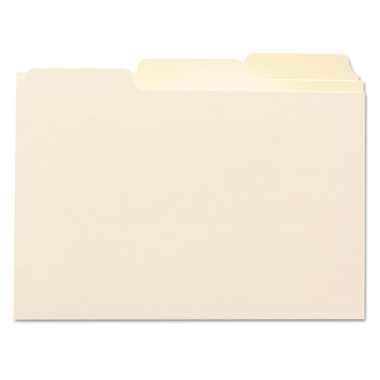 Manila Card Guides, 1/3-Cut Top Tab, Blank, 4 x 6, Manila, 100/Box