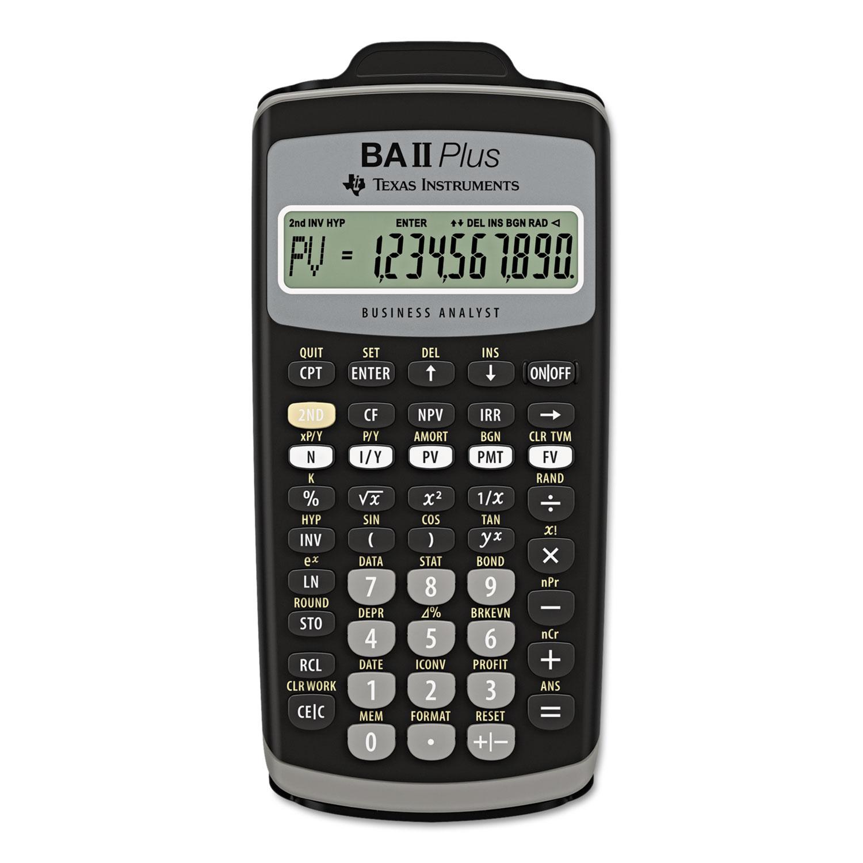 BAIIPlus Financial Calculator, 10-Digit LCD