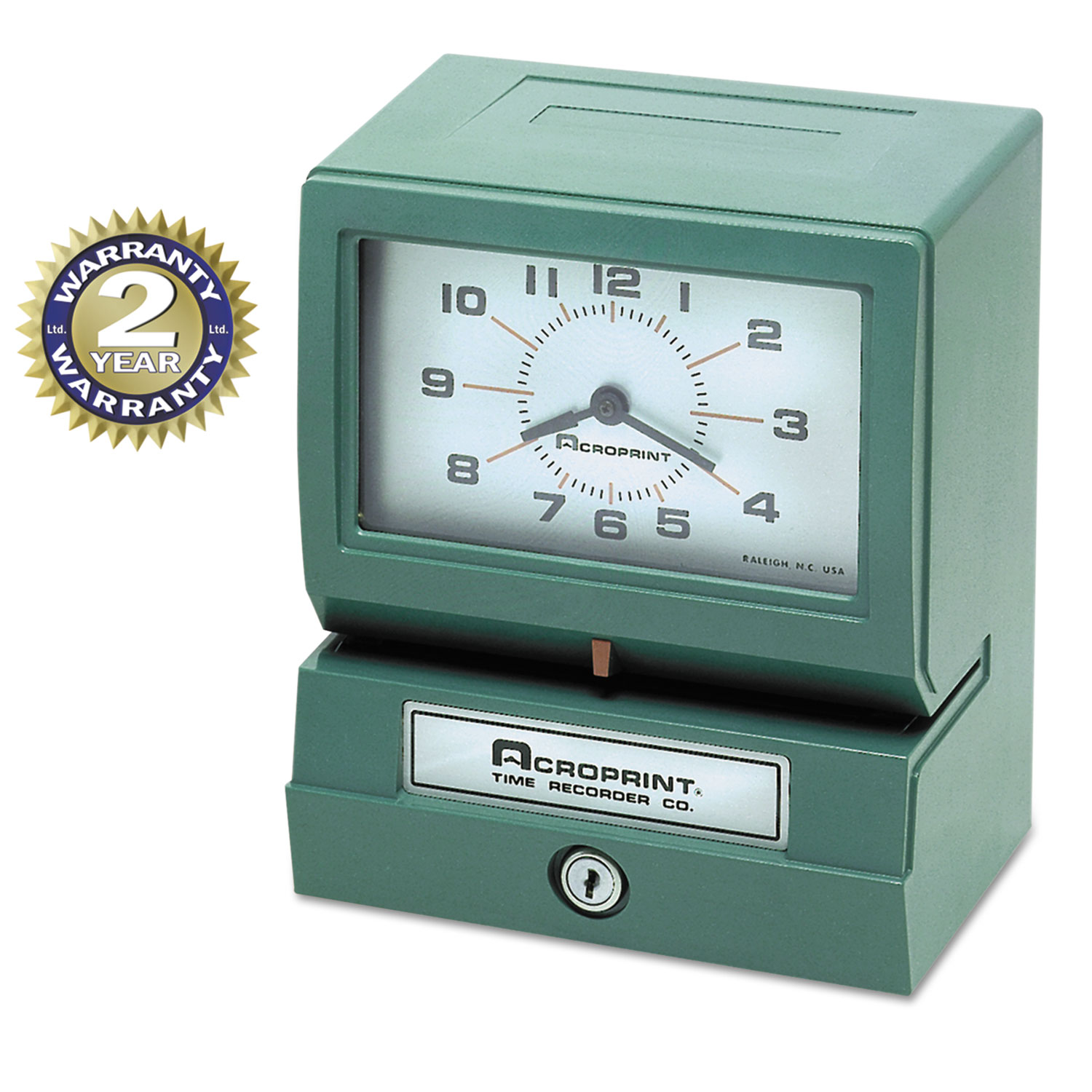 Model 150 Analog Automatic Print Time Clock with Month/Date/0-23 Hours/Minutes