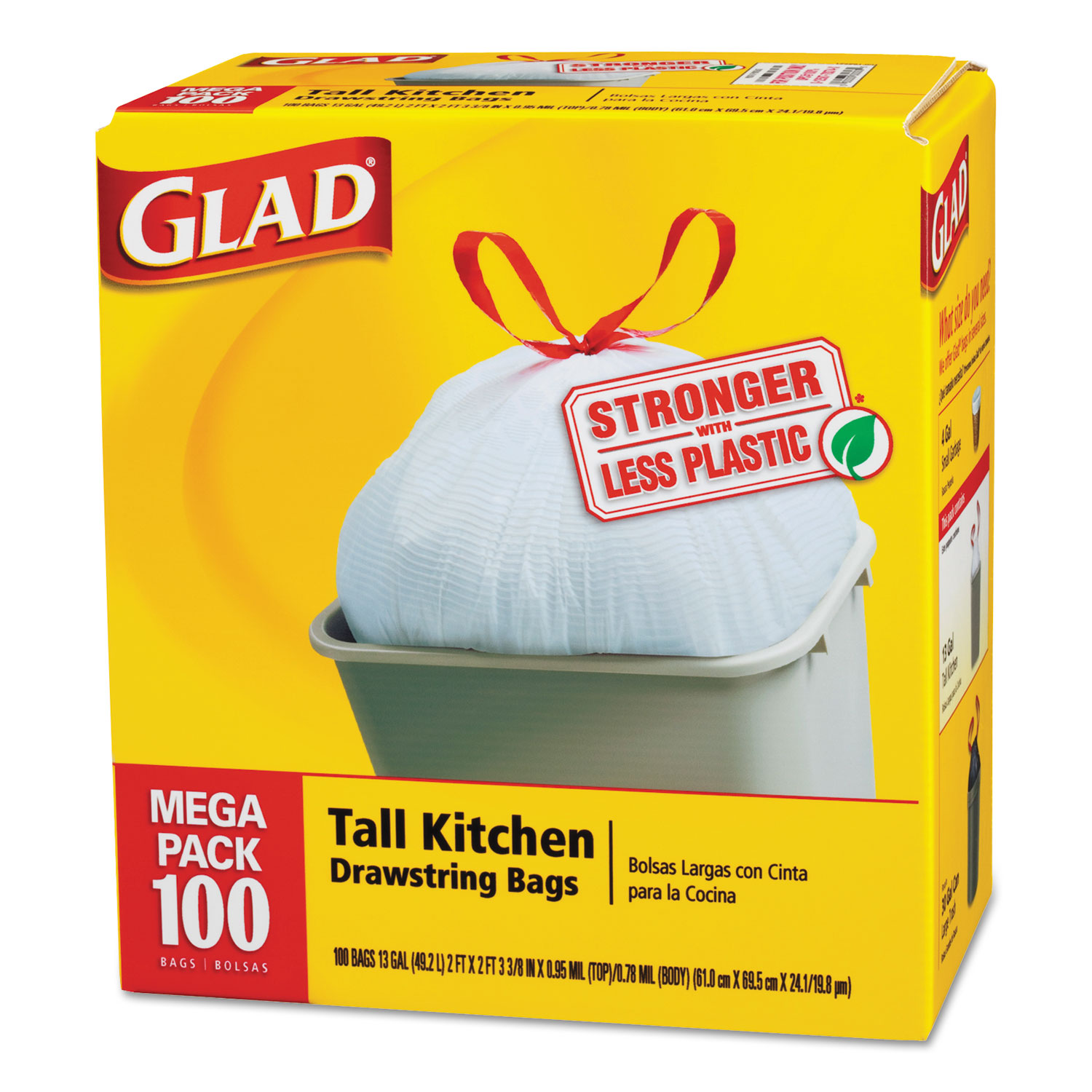 Tall Kitchen Drawstring Bags By Glad® CLO78526CT
