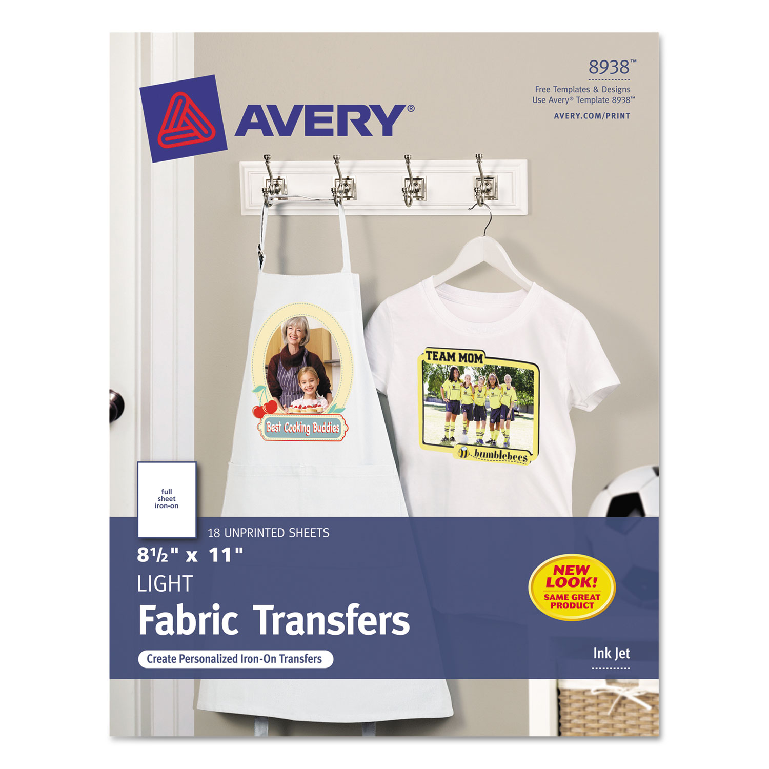 light fabric transfers for inkjet printers by avery