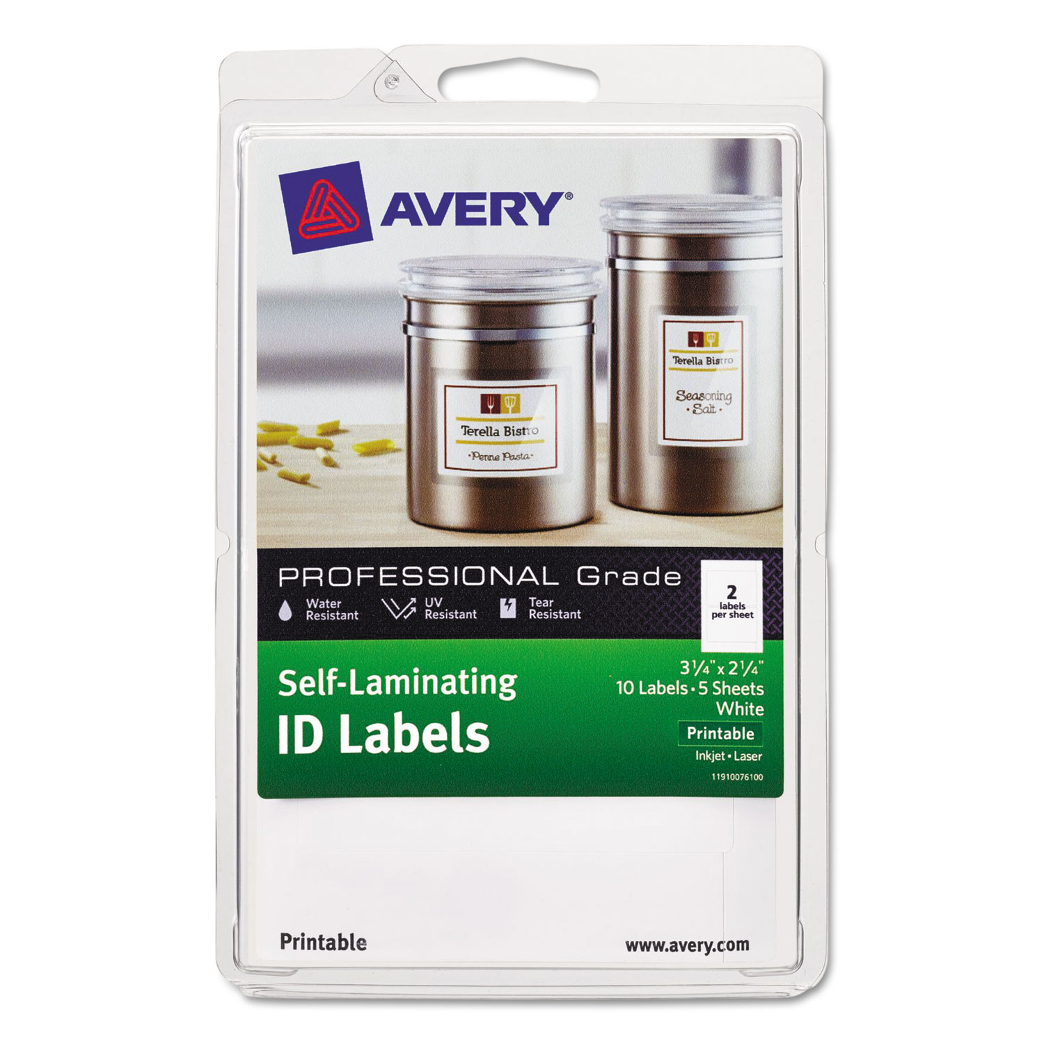 self laminating id label by avery ave00761 ontimesupplies com