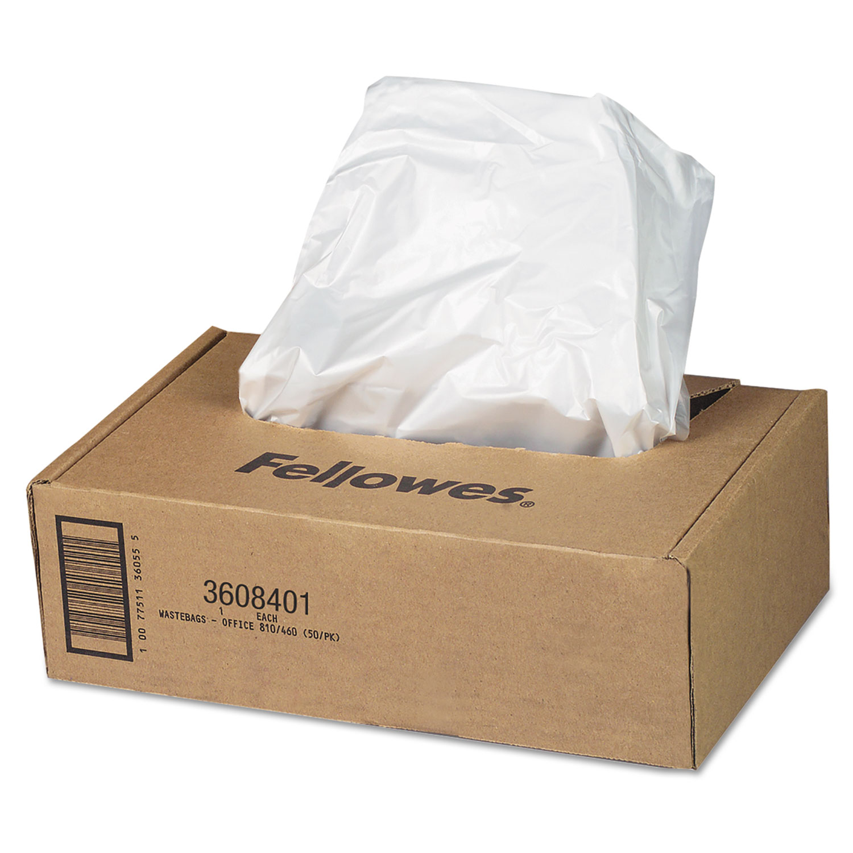 Shredder Waste Bags, 16-20 gal Capacity, 50/Carton