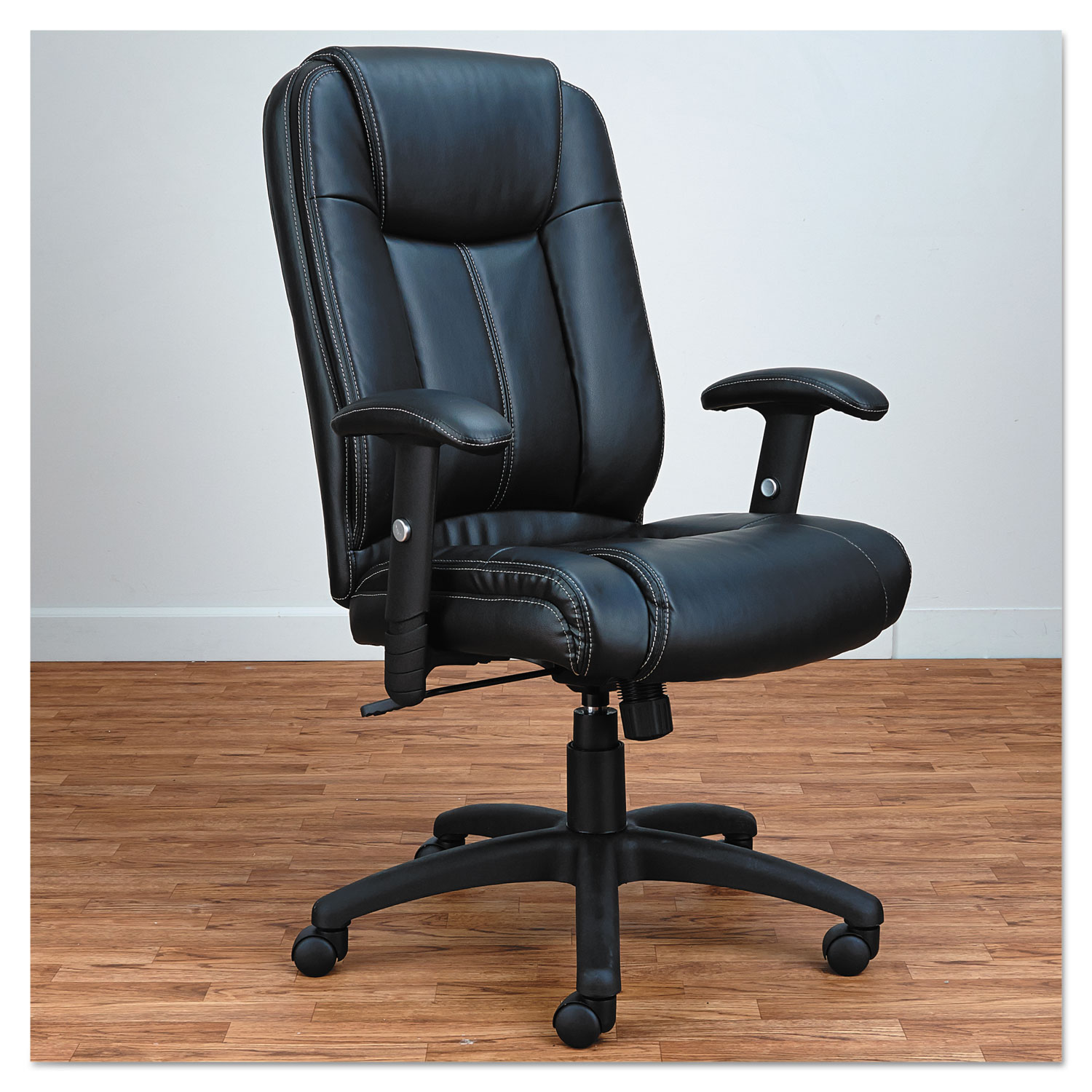 high back leather chairs. Alera CC Series Executive High-Back Swivel/Tilt Leather Chair, Black High Back Chairs