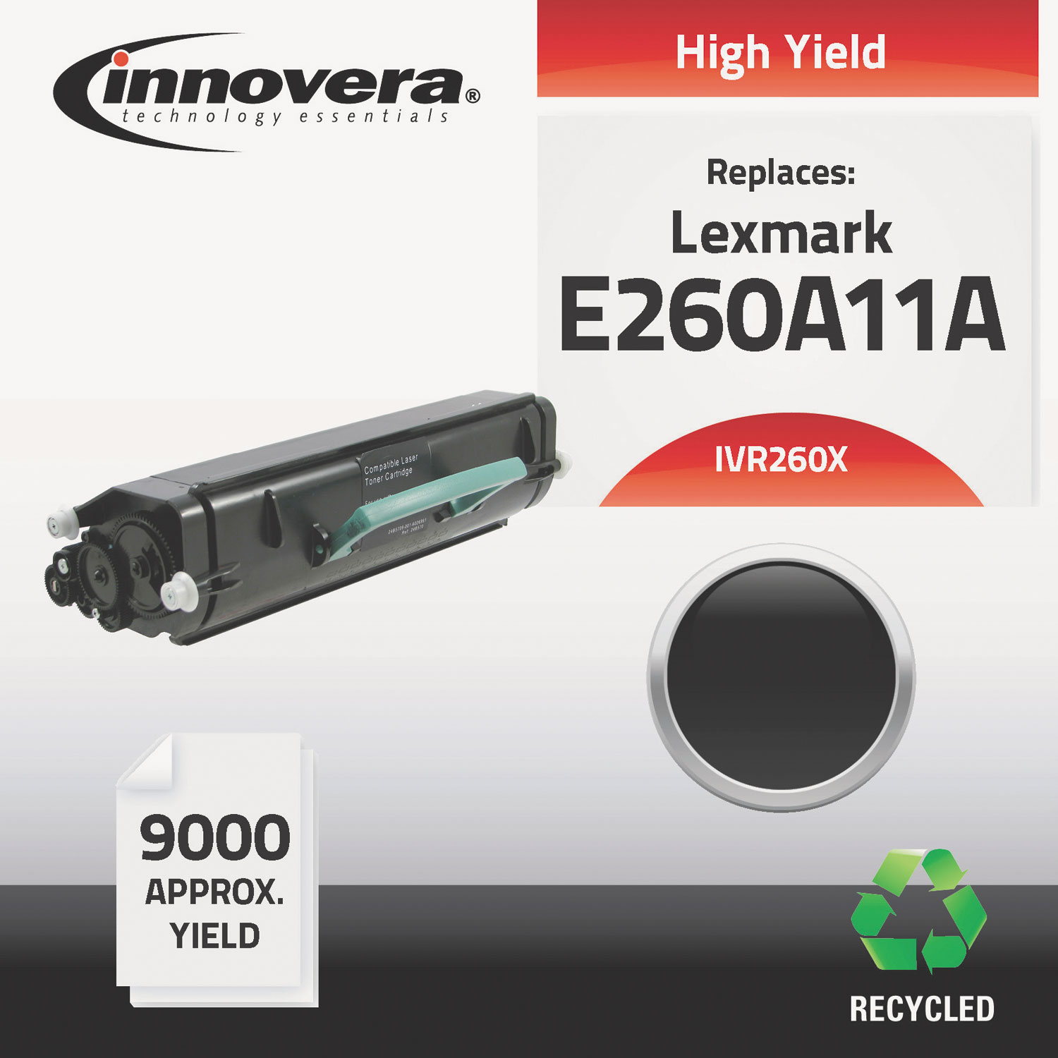 Remanufactured E260A11A (E260) High-Yield Toner, 9000 Page-Yield, Black