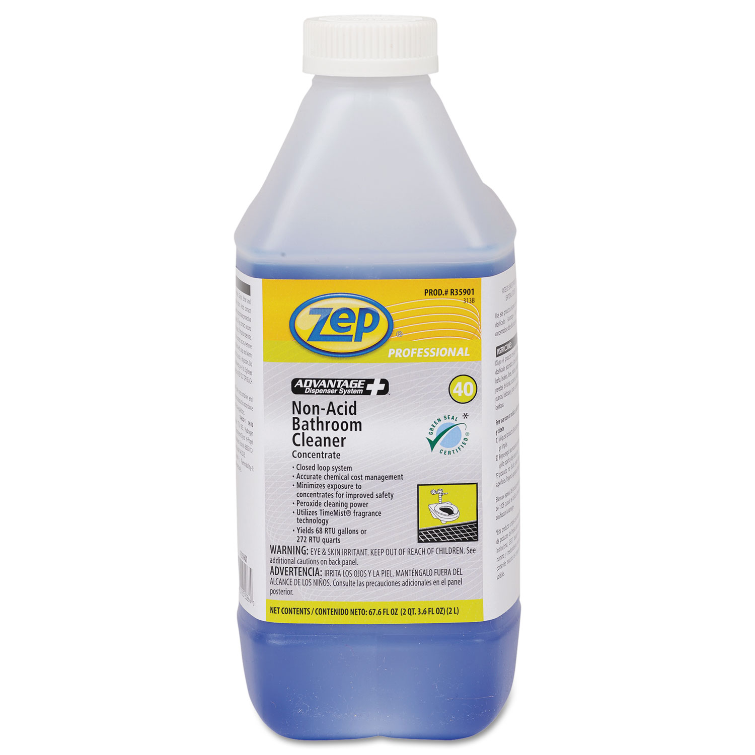 Advantage Concentrated NonAcid Bathroom Cleaner By Zep - Bathroom cleaner liquid