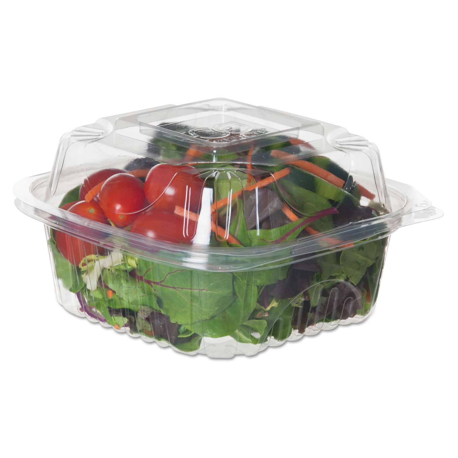 Renewable and Compostable Clear Clamshells, 6 x 6 x 3, 80/Pack, 3 Packs/Carton ECOEPLC6