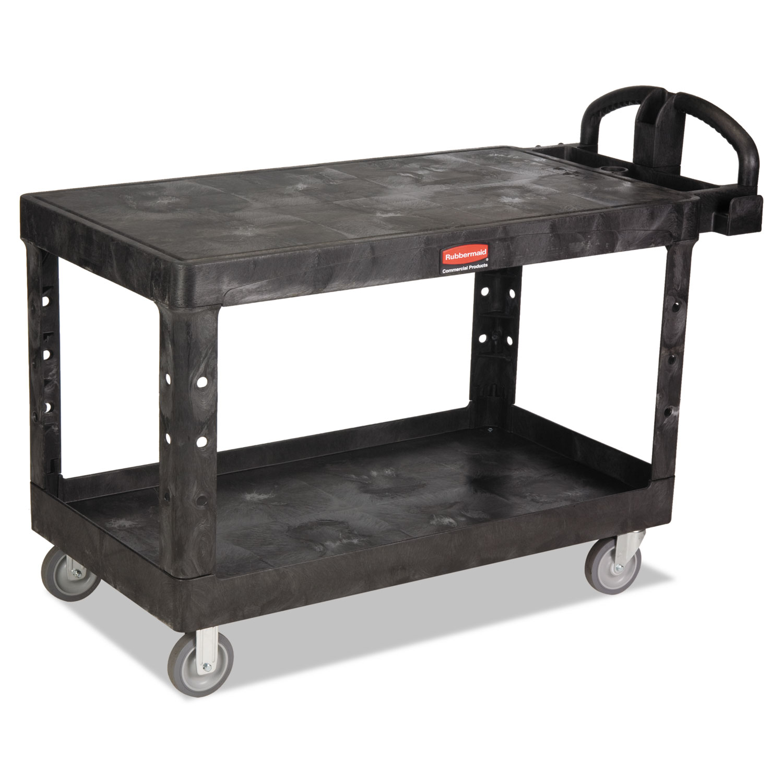 Heavy Duty 2 Shelf Utility Cart Tpr Casters 2525w X 54d X