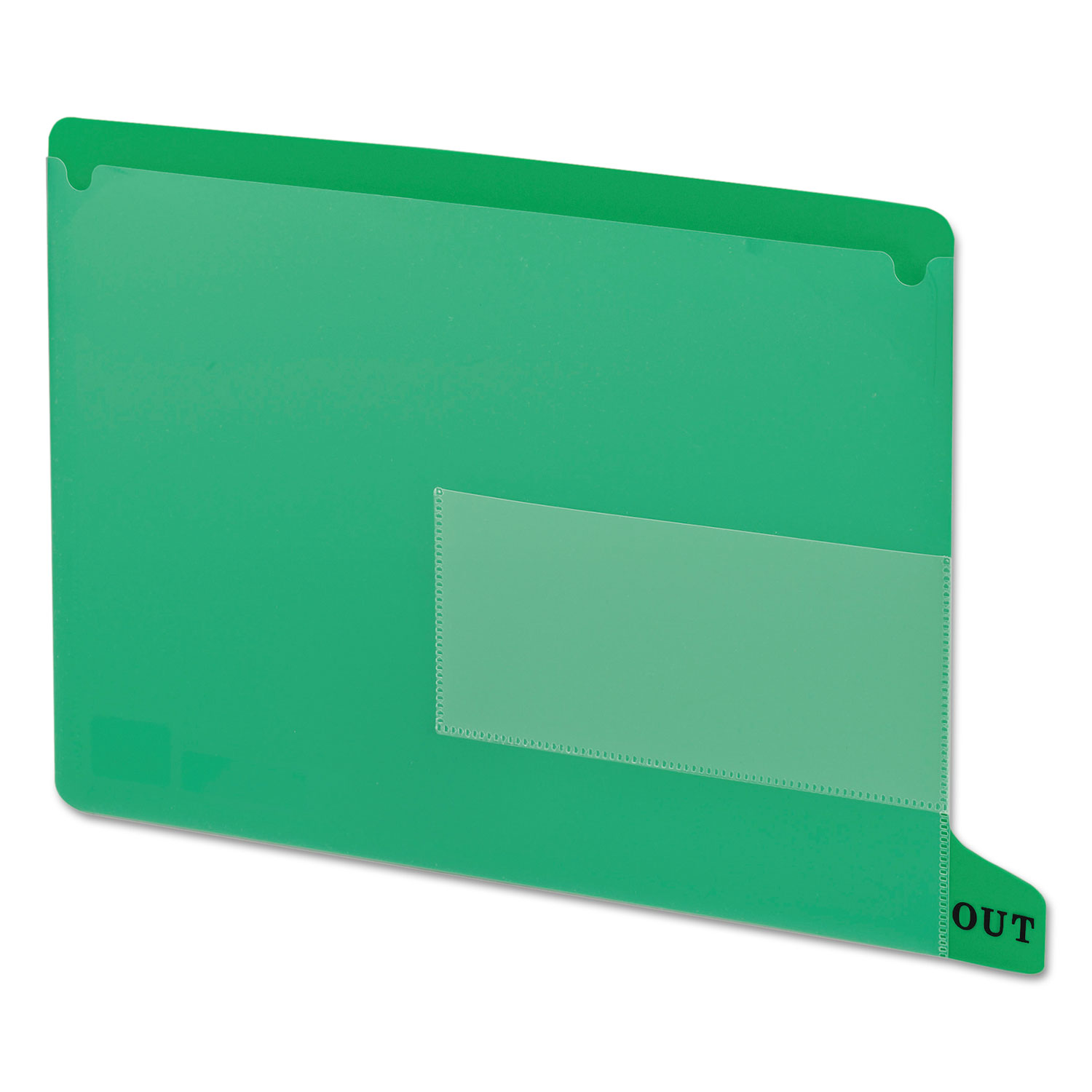 Colored Poly Out Guides with Pockets, 1/3-Cut End Tab, Out, 8.5 x 11, Green, 25/Box