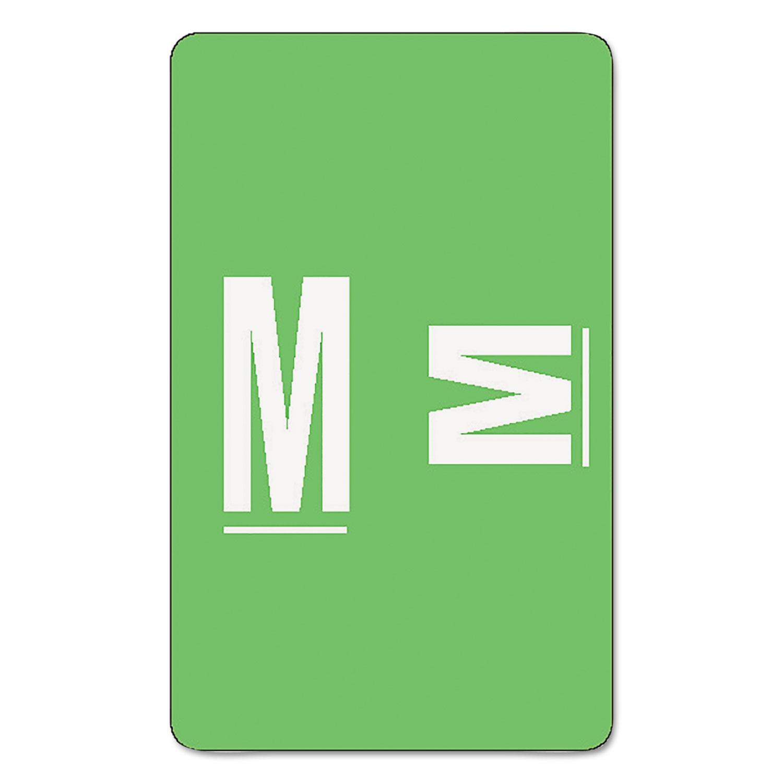 AlphaZ Color-Coded Second Letter Alphabetical Labels, M, 1 x 1.63, Light Green, 10/Sheet, 10 Sheets/Pack