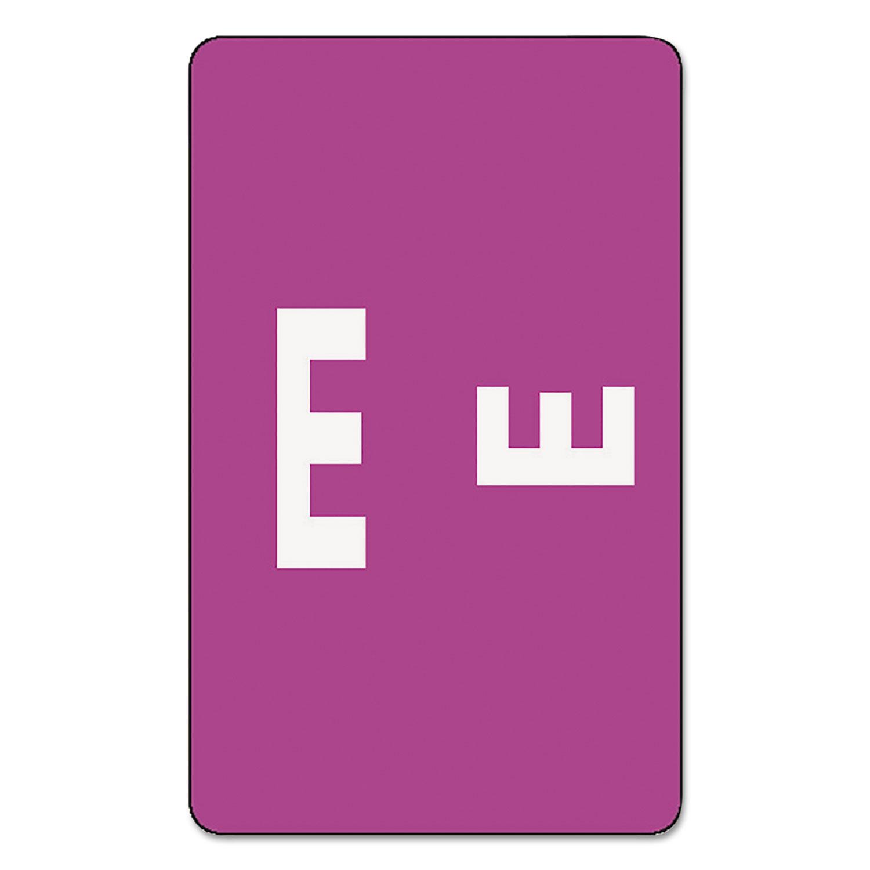 Alpha-Z Color-Coded Second Letter Labels, Letter E, Purple, 100/Pack
