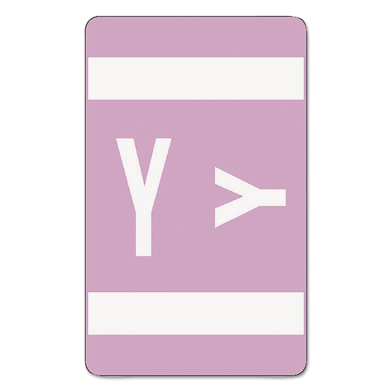 Alpha-Z Color-Coded Second Letter Labels, Letter Y, Lavender, 100/Pack