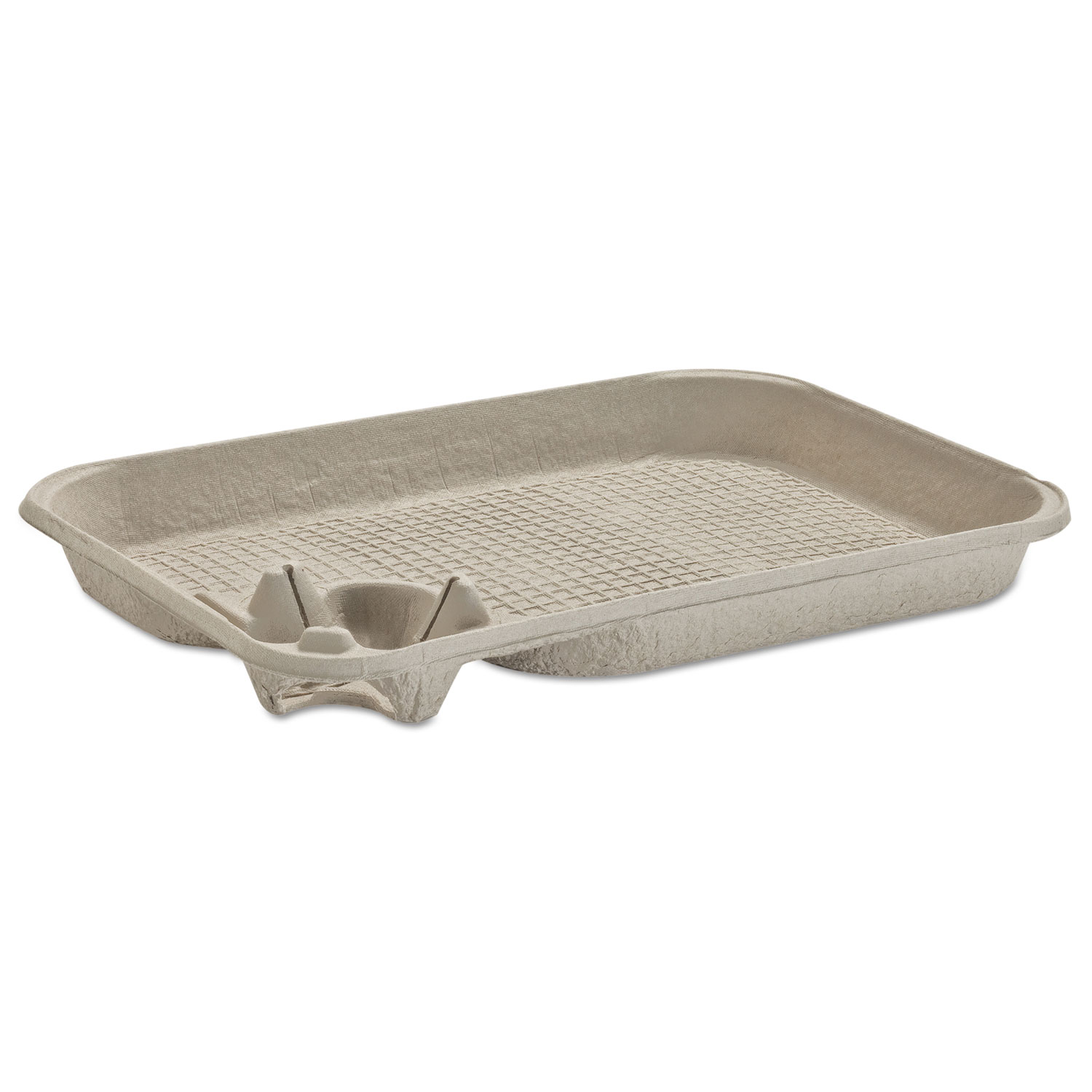 StrongHolder Molded Fiber Cup/Food Tray, 8-22oz, One Cup, 200/Carton