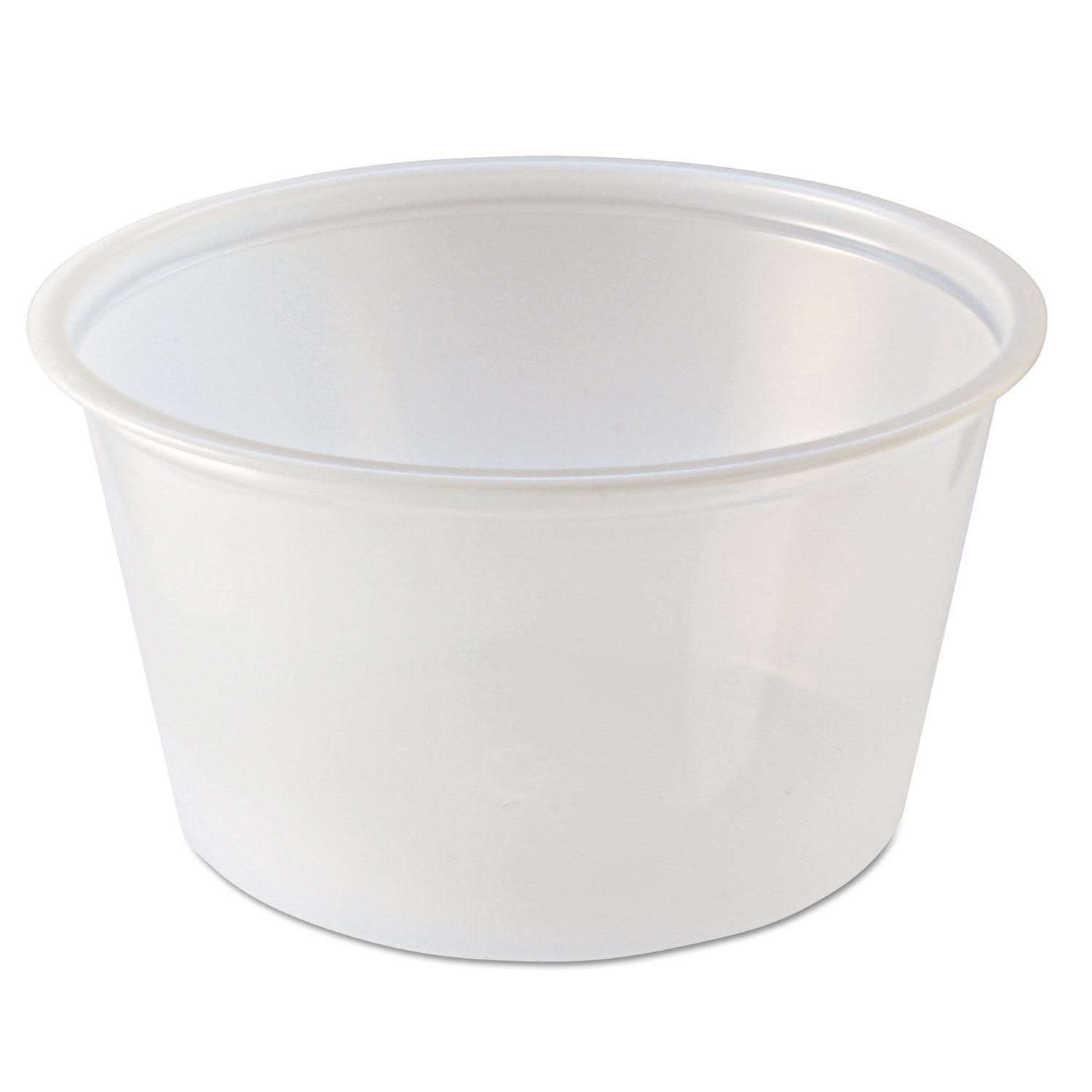 Portion Cups, 4oz, Clear, 125/Sleeve, 20 Sleeves/Carton