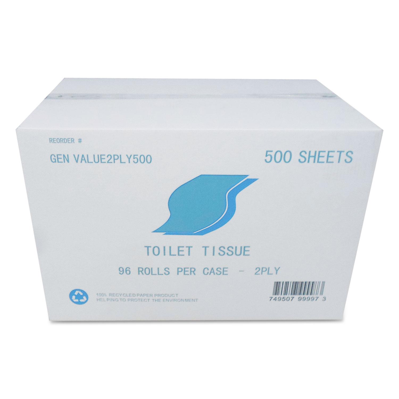 96 Rolls//Carton 2-Ply Bath Tissue Wrapped 300//Roll