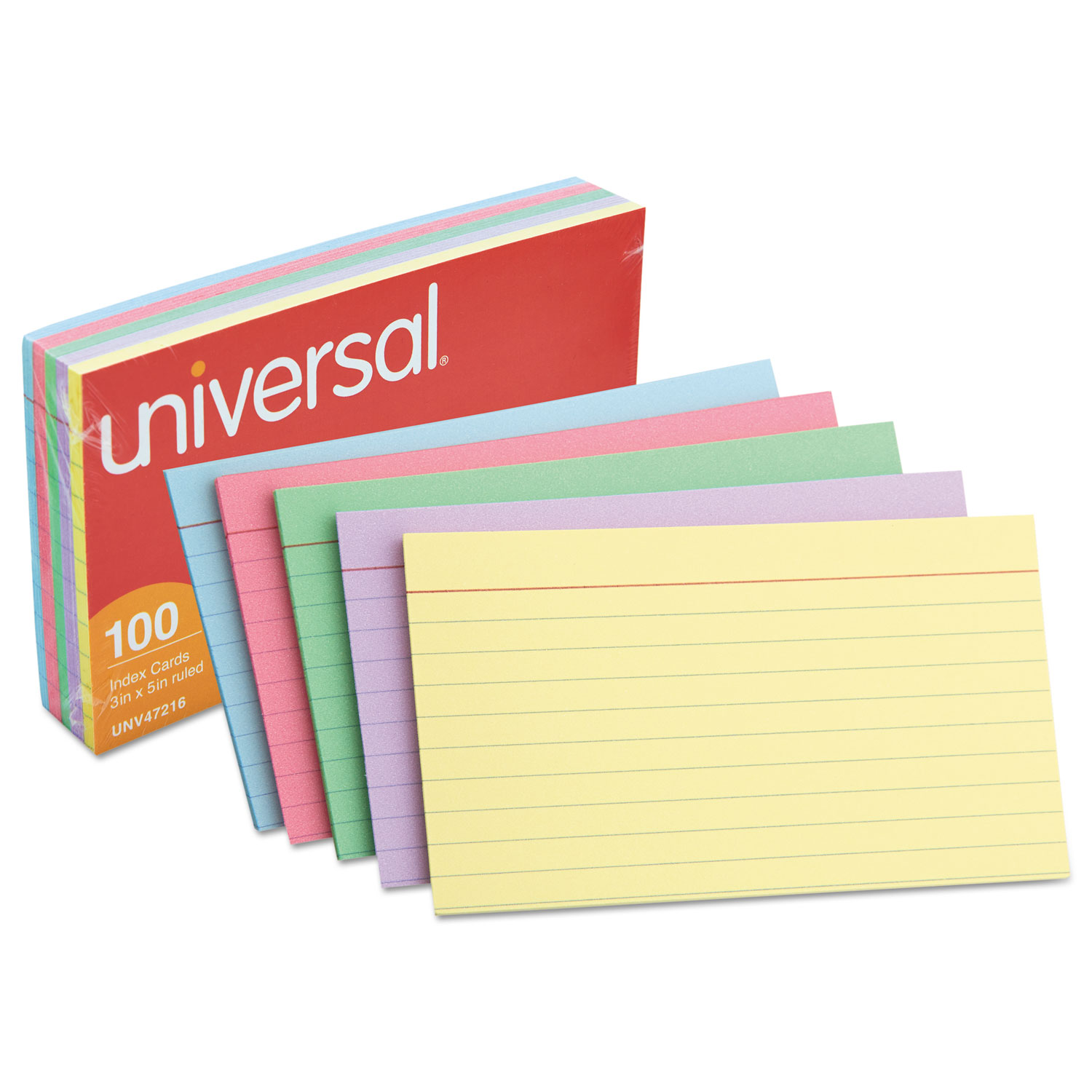 index cards by universal u00ae unv47216