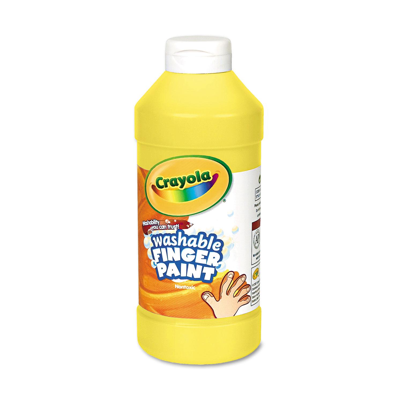 Washable Fingerpaint, Yellow, 16 oz