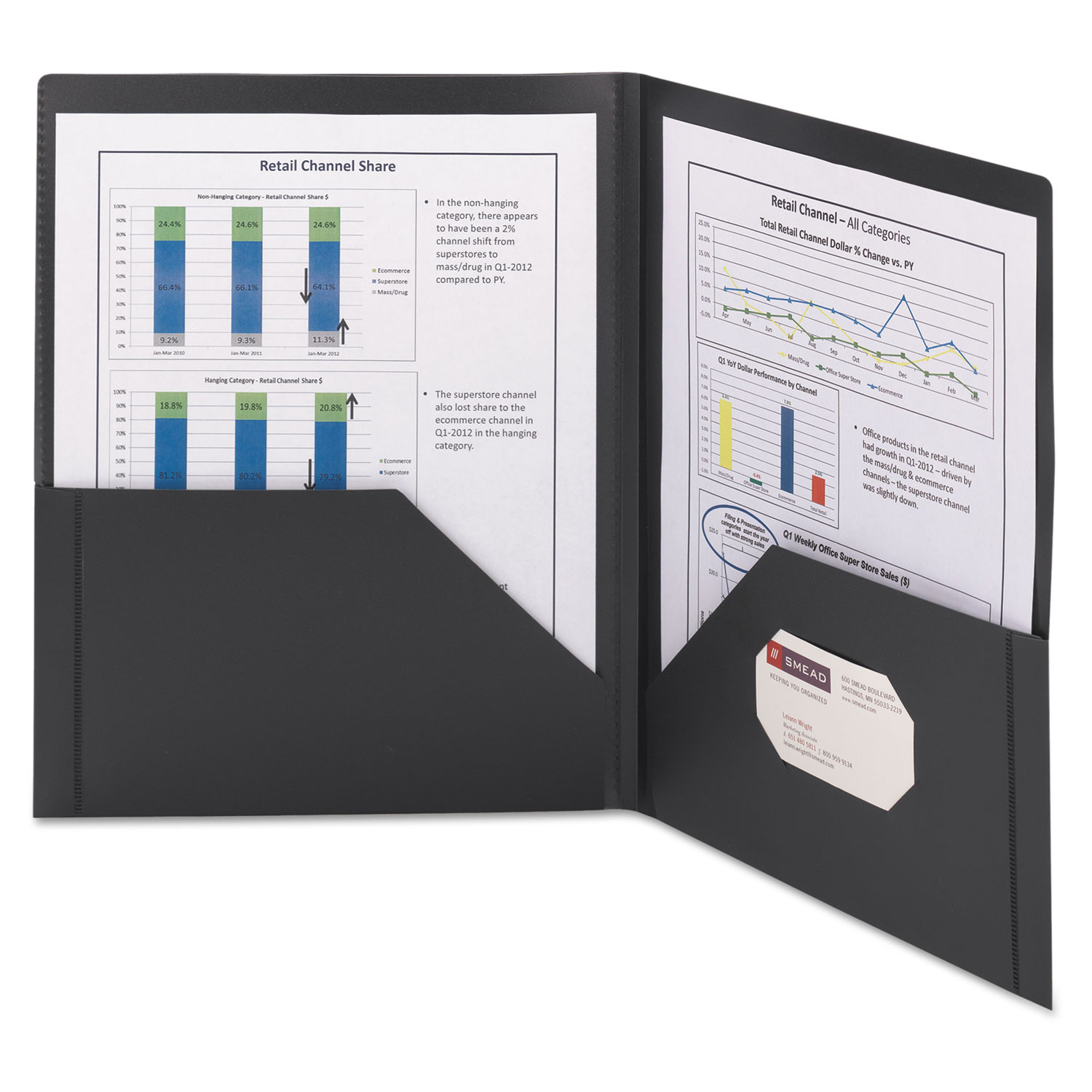Frame View Poly Two-Pocket Folder by Smead® SMD87705 ...
