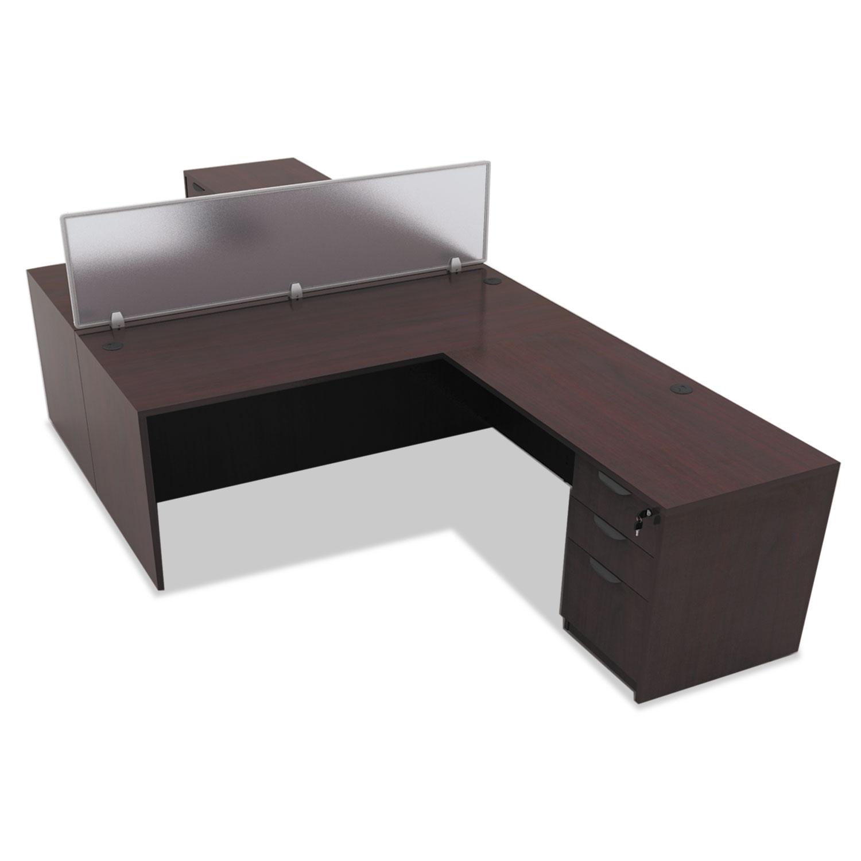 Alera Valencia Series Straight Front Desk Shell,65w X 29 1/2d X 29  5/8h,Mahogany