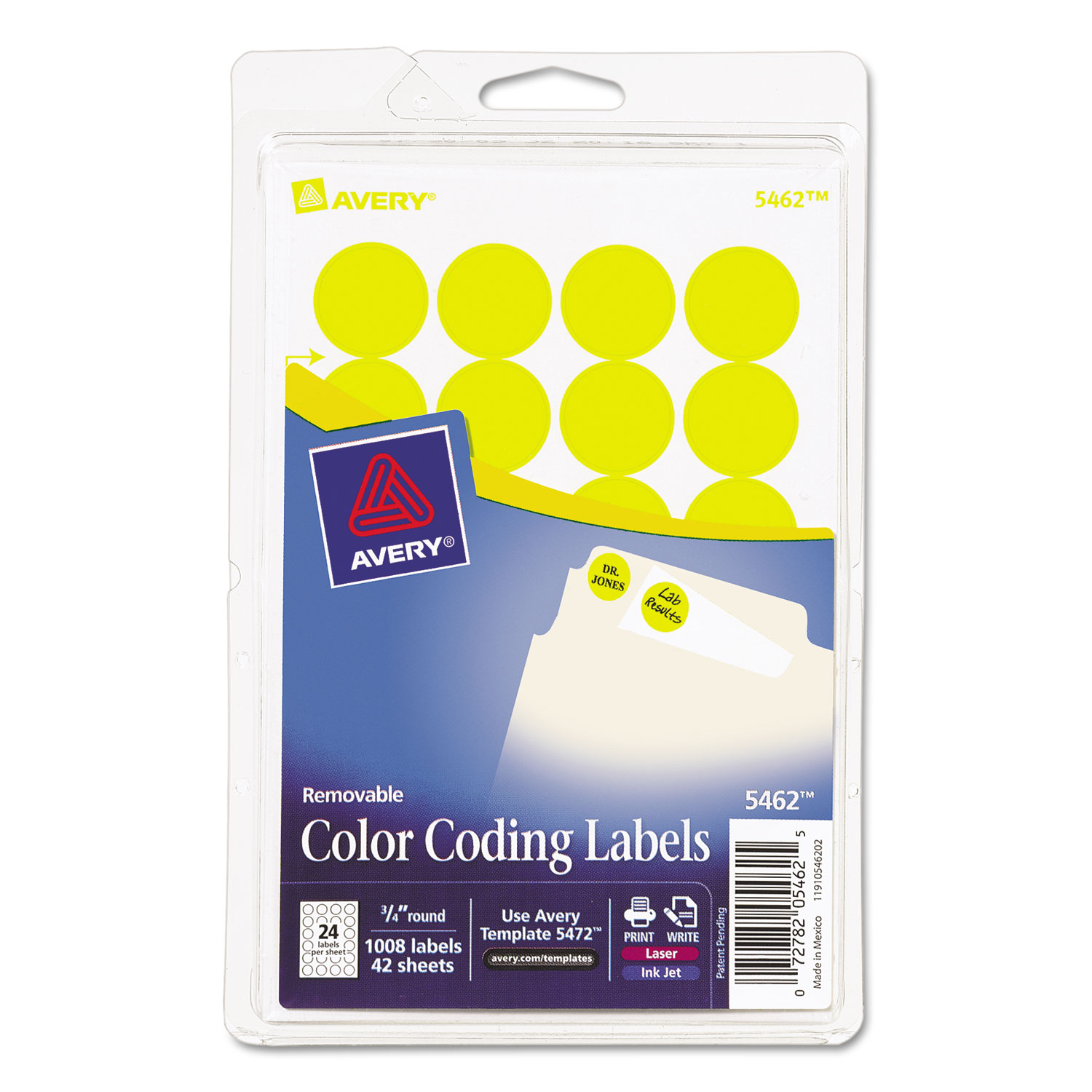 Printable Removable Color Coding Labels By AveryR AVE05462
