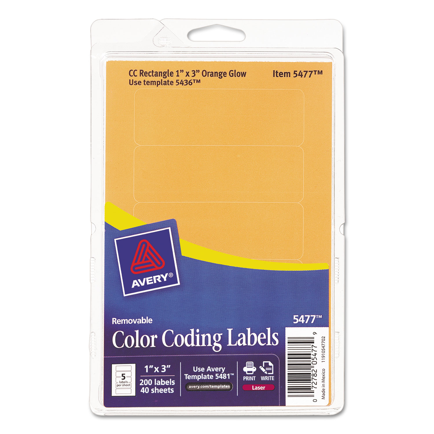 Printable Removable Color Coding Labels By AveryR AVE05477