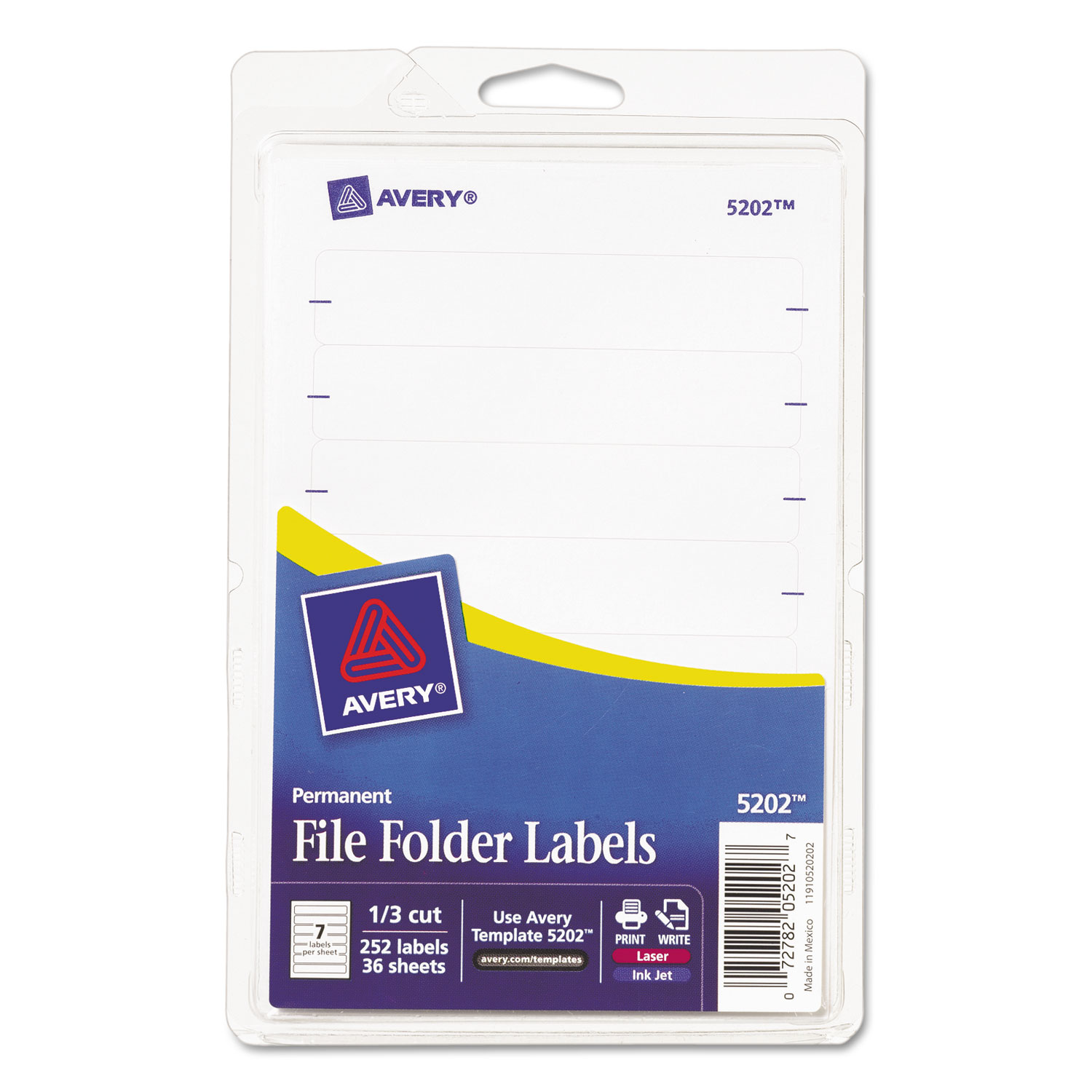 Print or Write File Folder Labels by Avery® AVE05202 ...