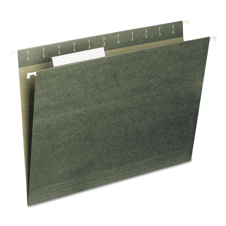 Hanging Folders, Letter Size, 1/3-Cut Tab, Standard Green, 25/Box