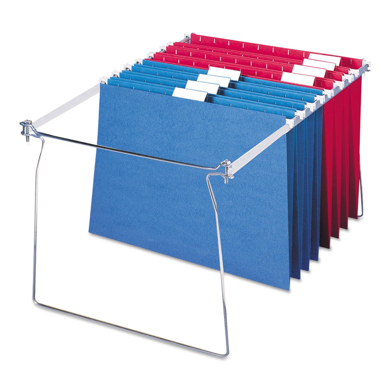 """Hanging Folder Frame, Letter Size, 23-27"""" Long, Steel, 2/Pack"""