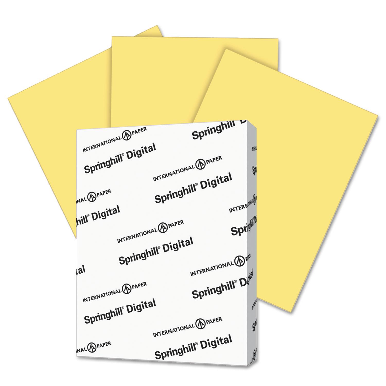 Digital Index Color Card Stock, 90 lb, 8 1/2 x 11, Buff, 250 Sheets/Pack