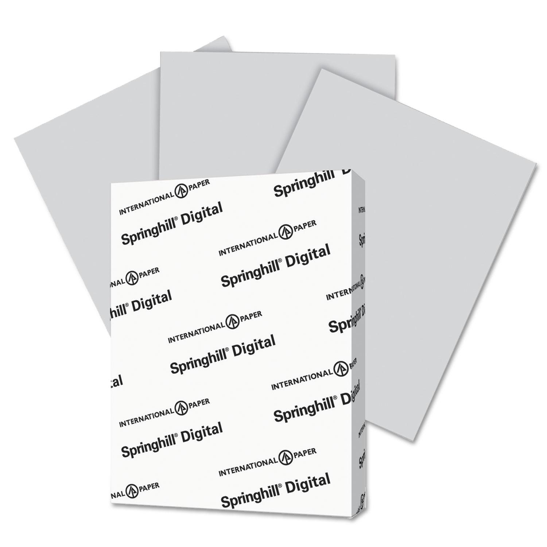 Digital Vellum Bristol Color Cover, 110 lb, 8 1/2 x 11, Gray, 250 Sheets/Pack